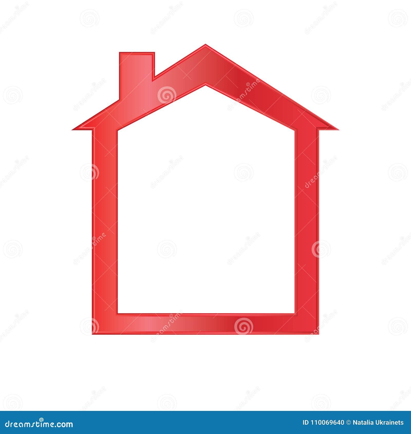 Красная икона дома