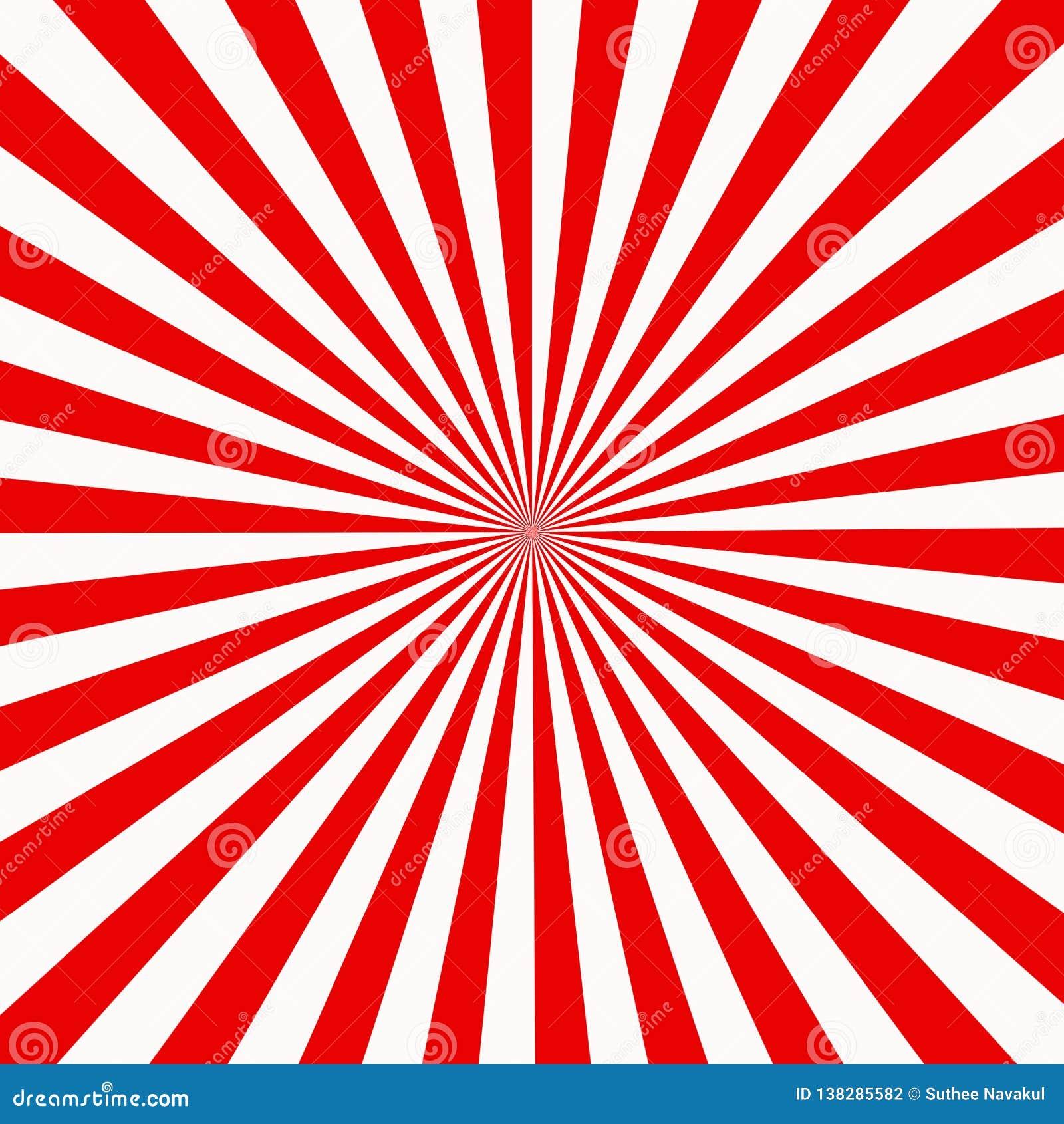 Красная и белая sunburst абстрактная текстура сияющая предпосылка starburst абстрактная sunburst предпосылка влияния красный и бе