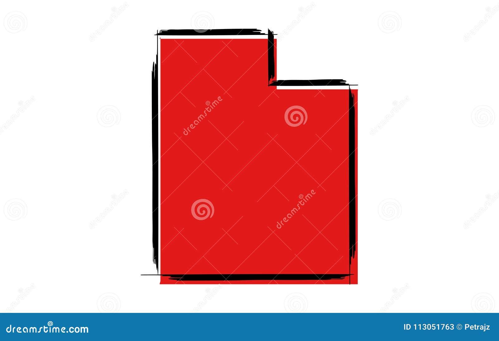Красная карта эскиза Юты