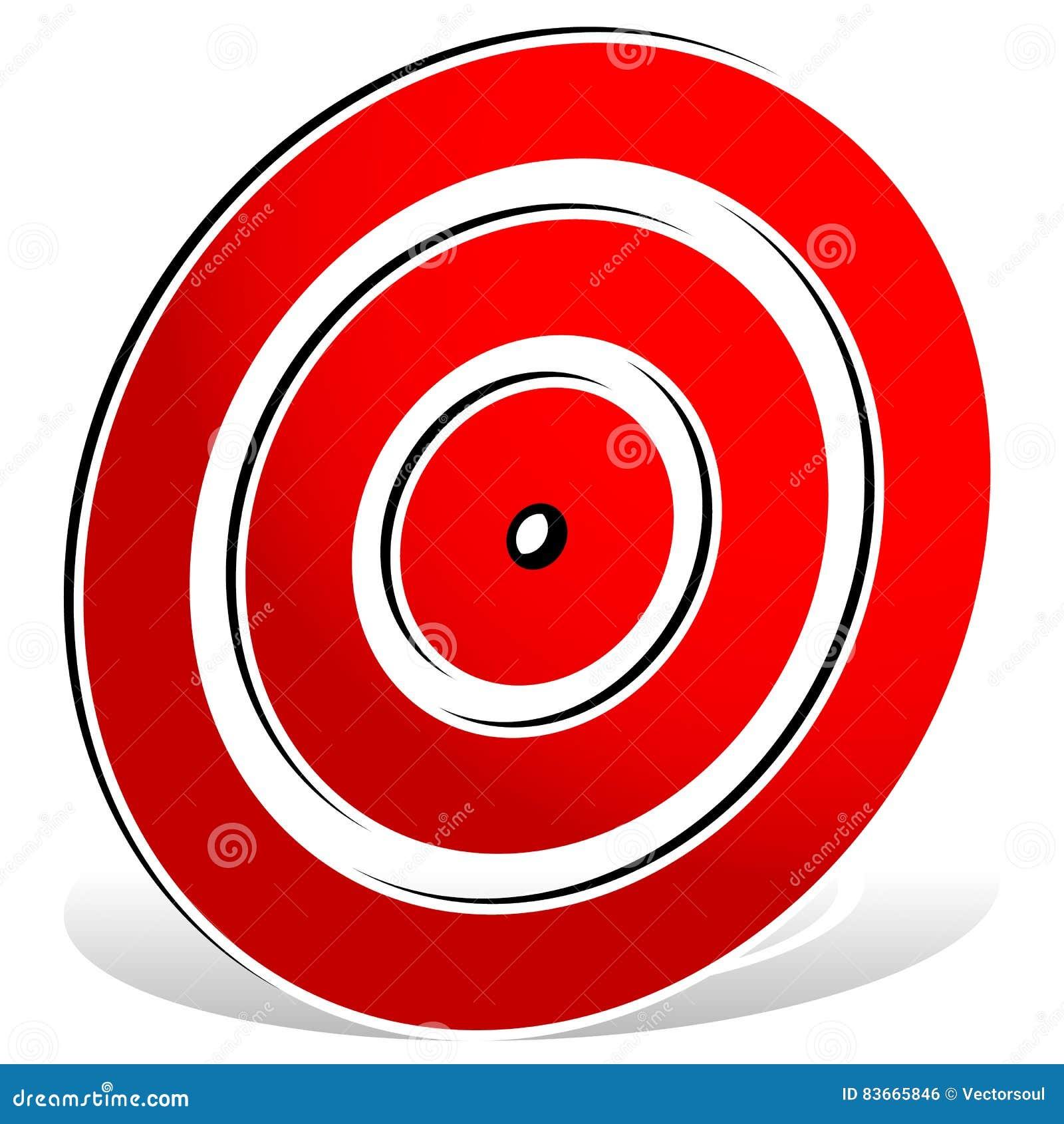 Красная метка цели - значок цели
