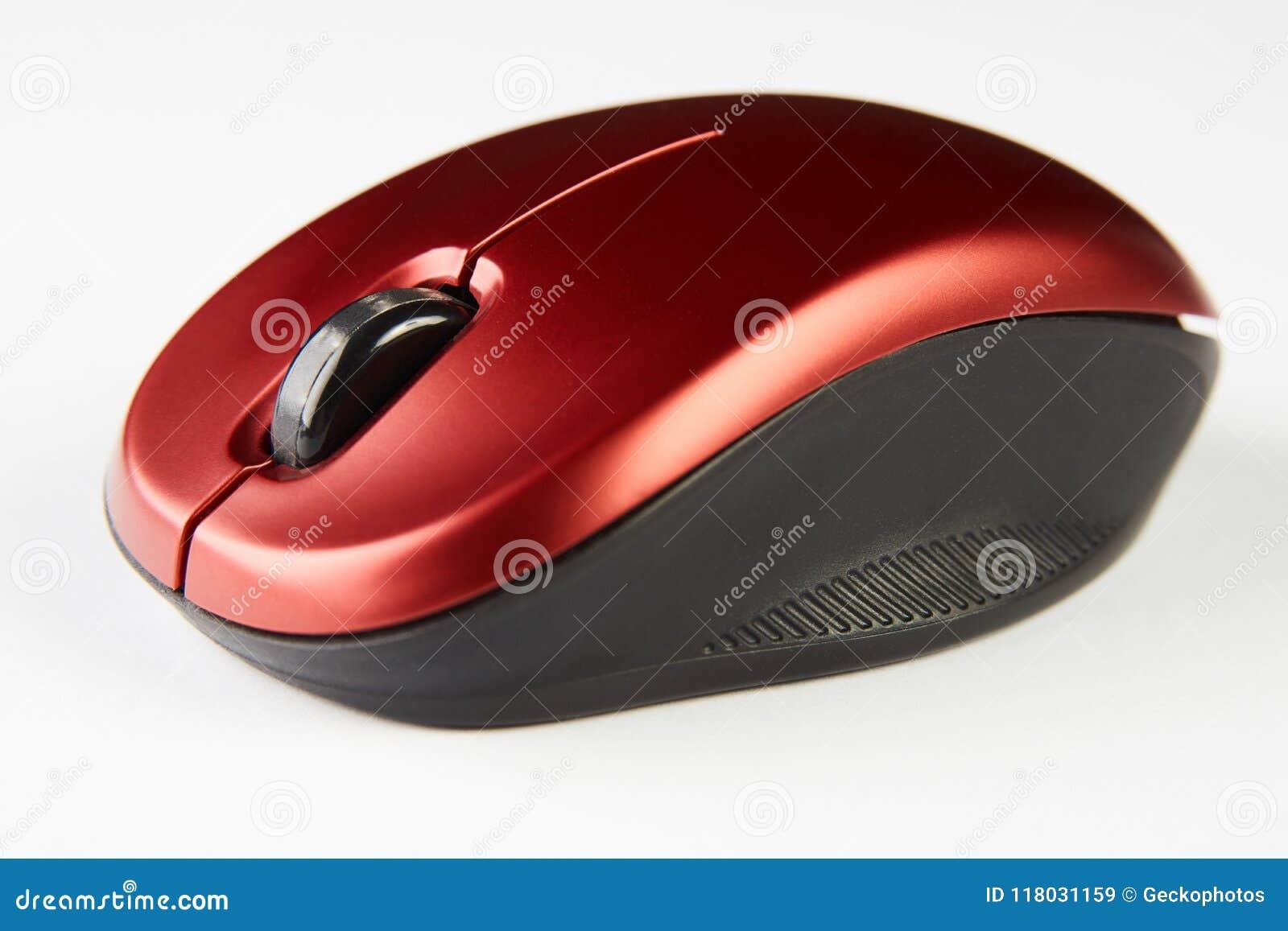 Красная оптически мышь компьютера