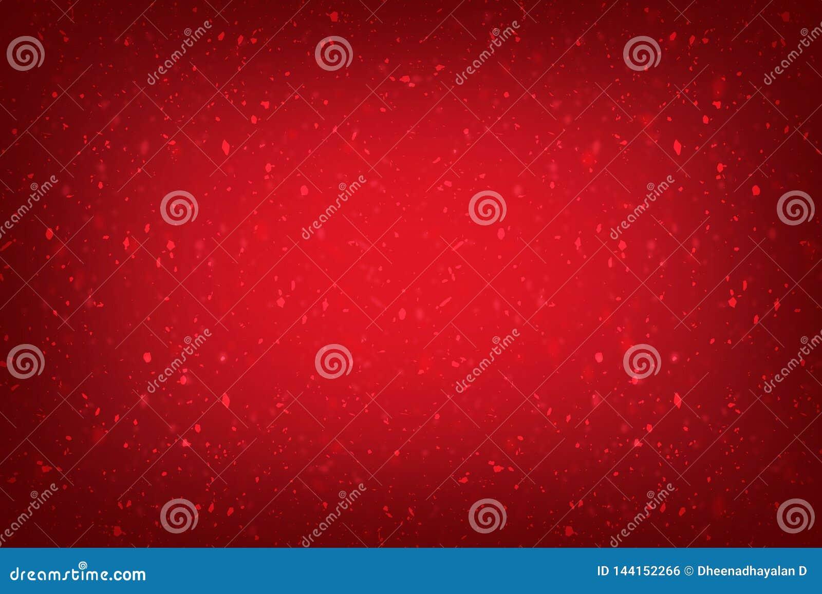 Красная предпосылка знамени рождества со светами и сверкнуть красивая красная предпосылка с текстурой, винтажным рождеством или в