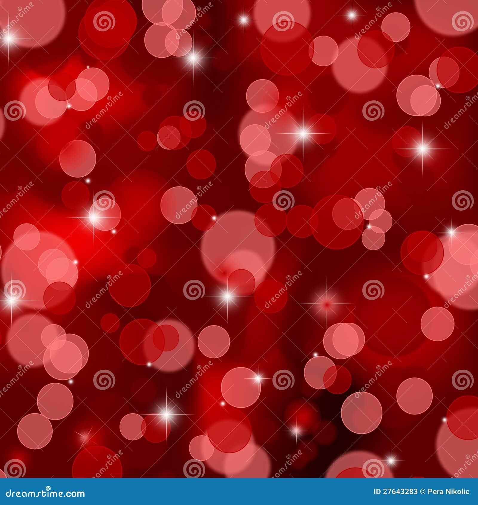 Красная предпосылка светов рождества сатинировки