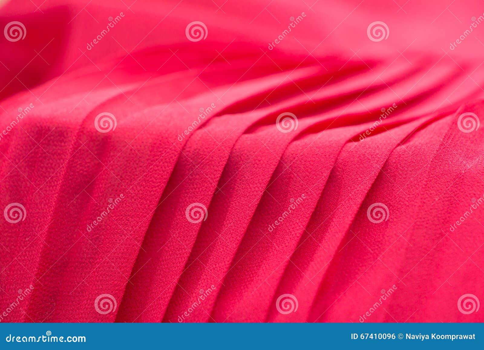 Красная предпосылка ткани pleat