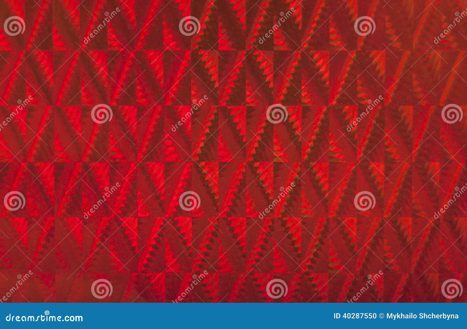 Красная предпосылка hologram.