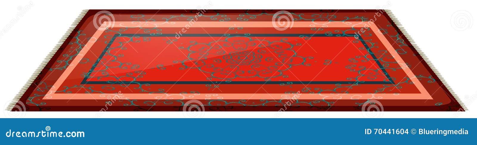 Красная циновка с простым дизайном