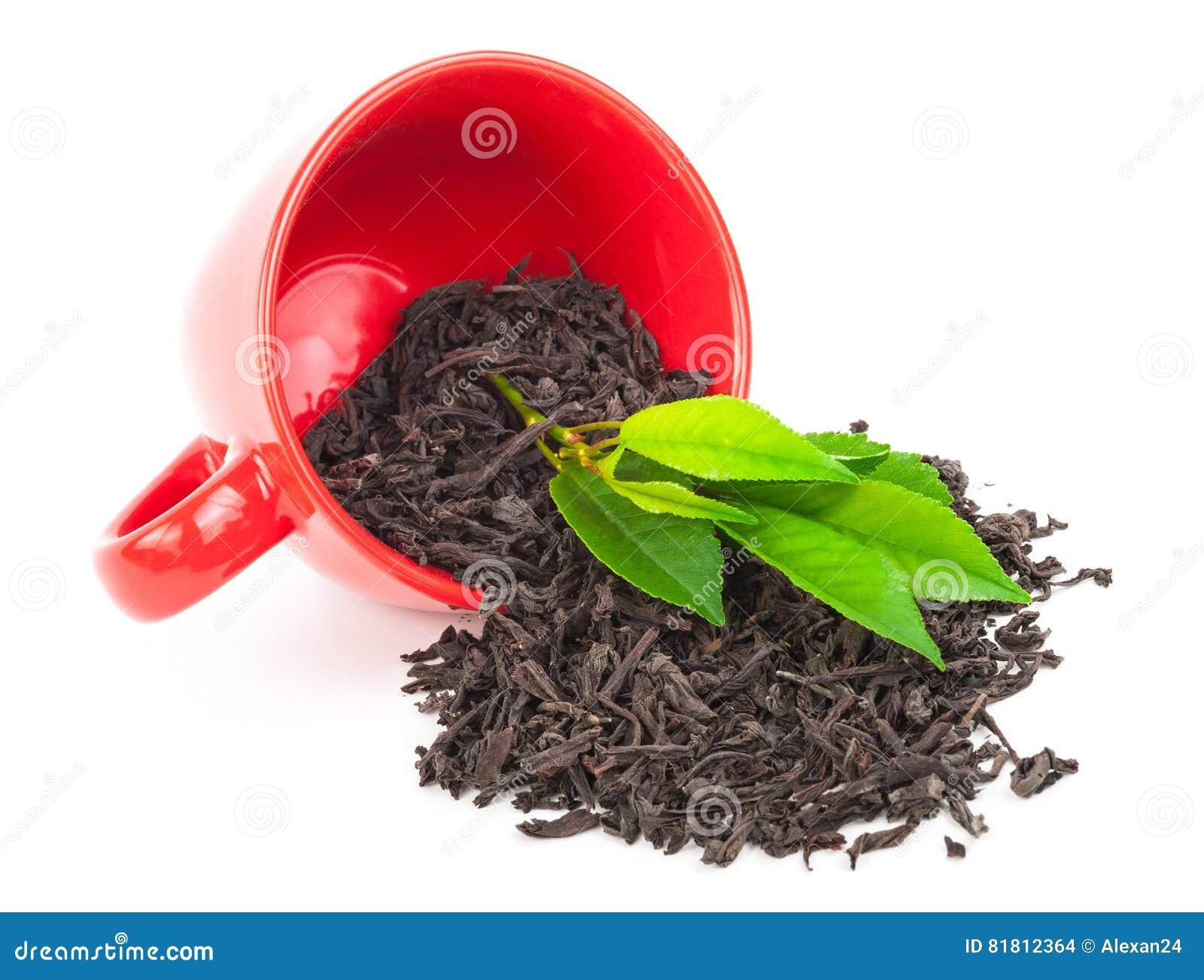 Красная чашка с чаем