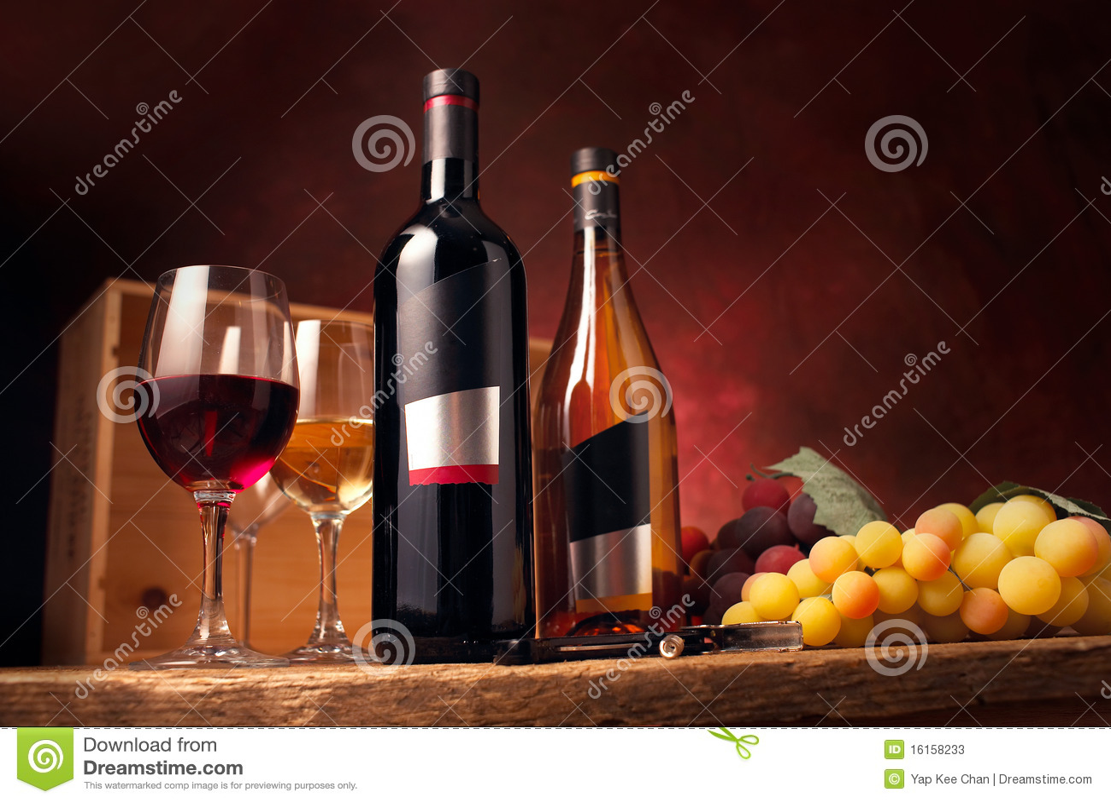 красное белое вино