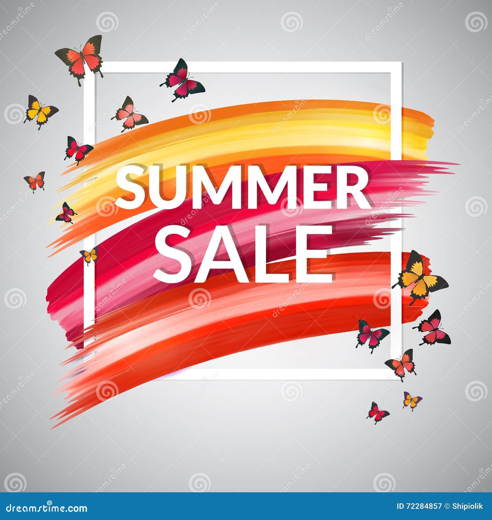 Download Красное красочное знамя продажи лета Иллюстрация вектора - иллюстрации насчитывающей цветасто, маркетинг: 72284857