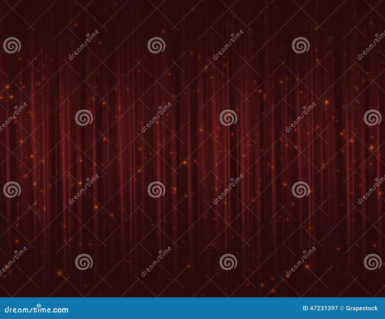 Красные занавесы яркого блеска искры