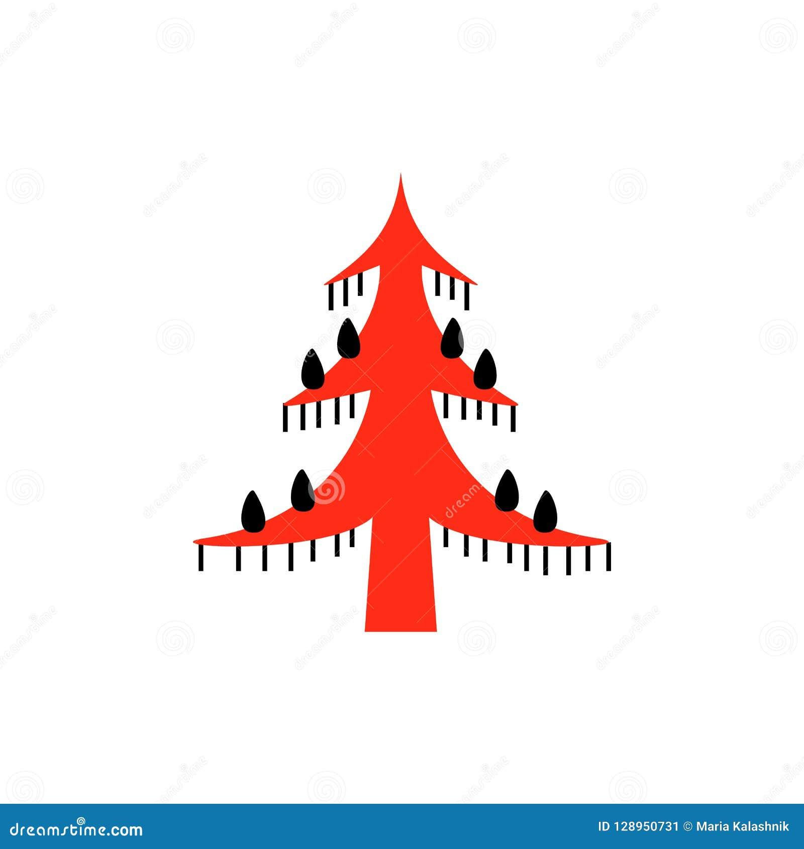 Красные и черные фантастические fairy деревья Национальные северные картины Фольклорные ремесленничества заколдовывать