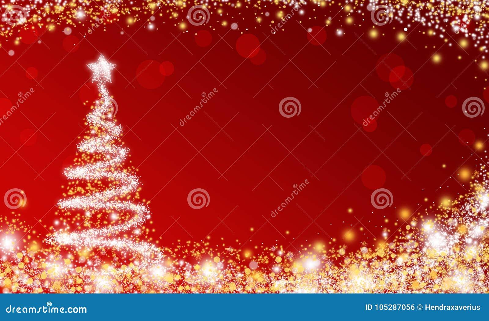 Красные обои рождественской елки искры