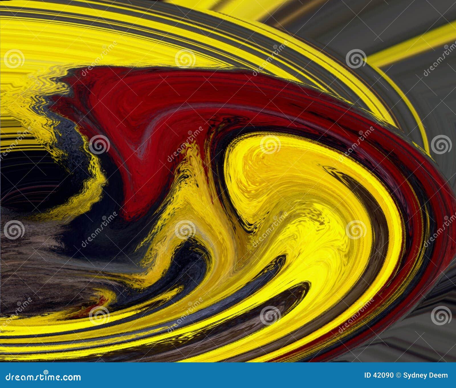 красный желтый цвет свирли