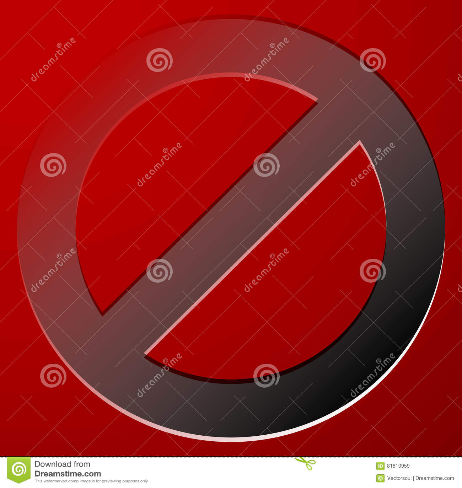 Красный запрет, знак ограничения - сброс, закрыл, никакое entran