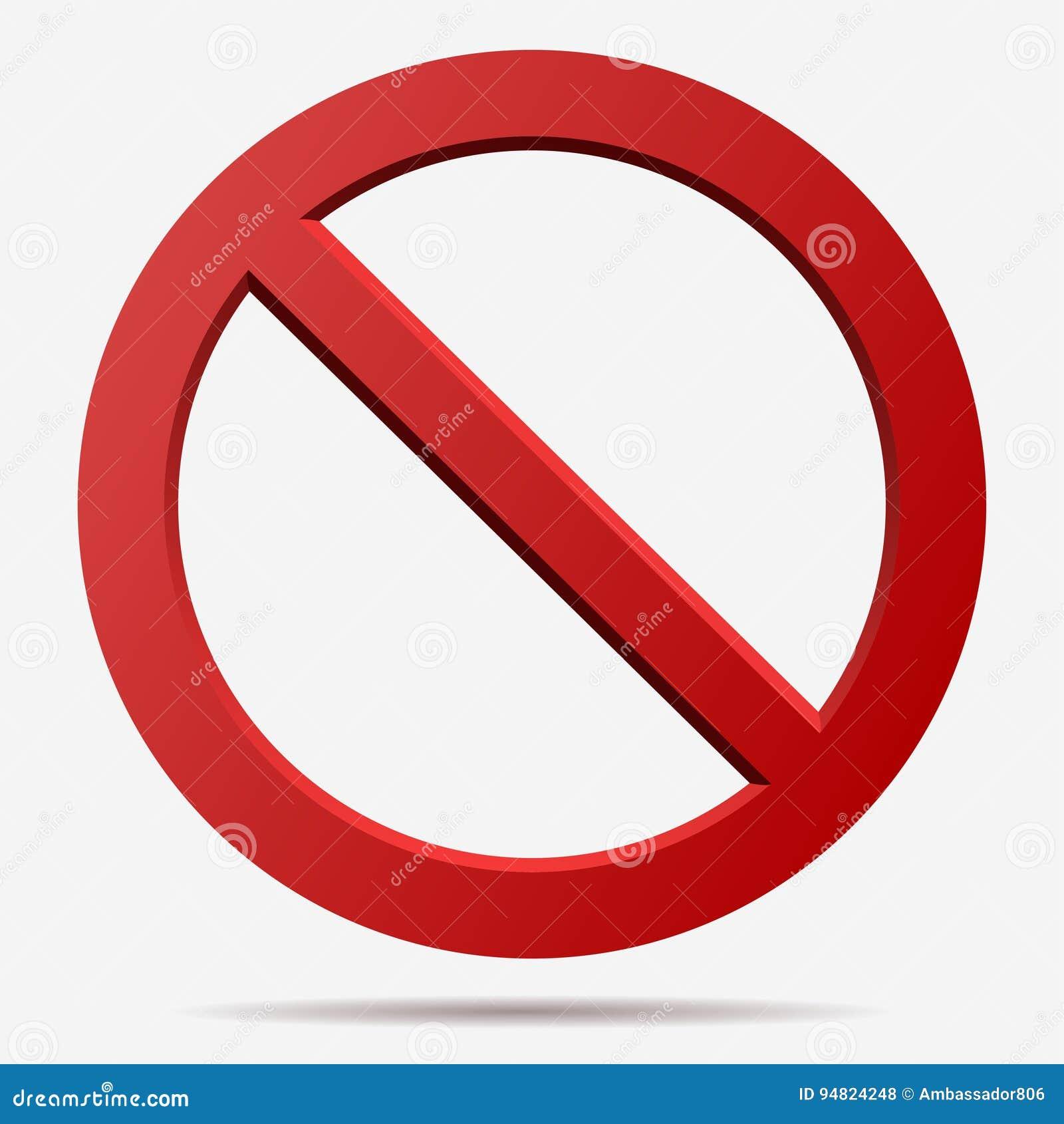 Красный знак вектора запрета