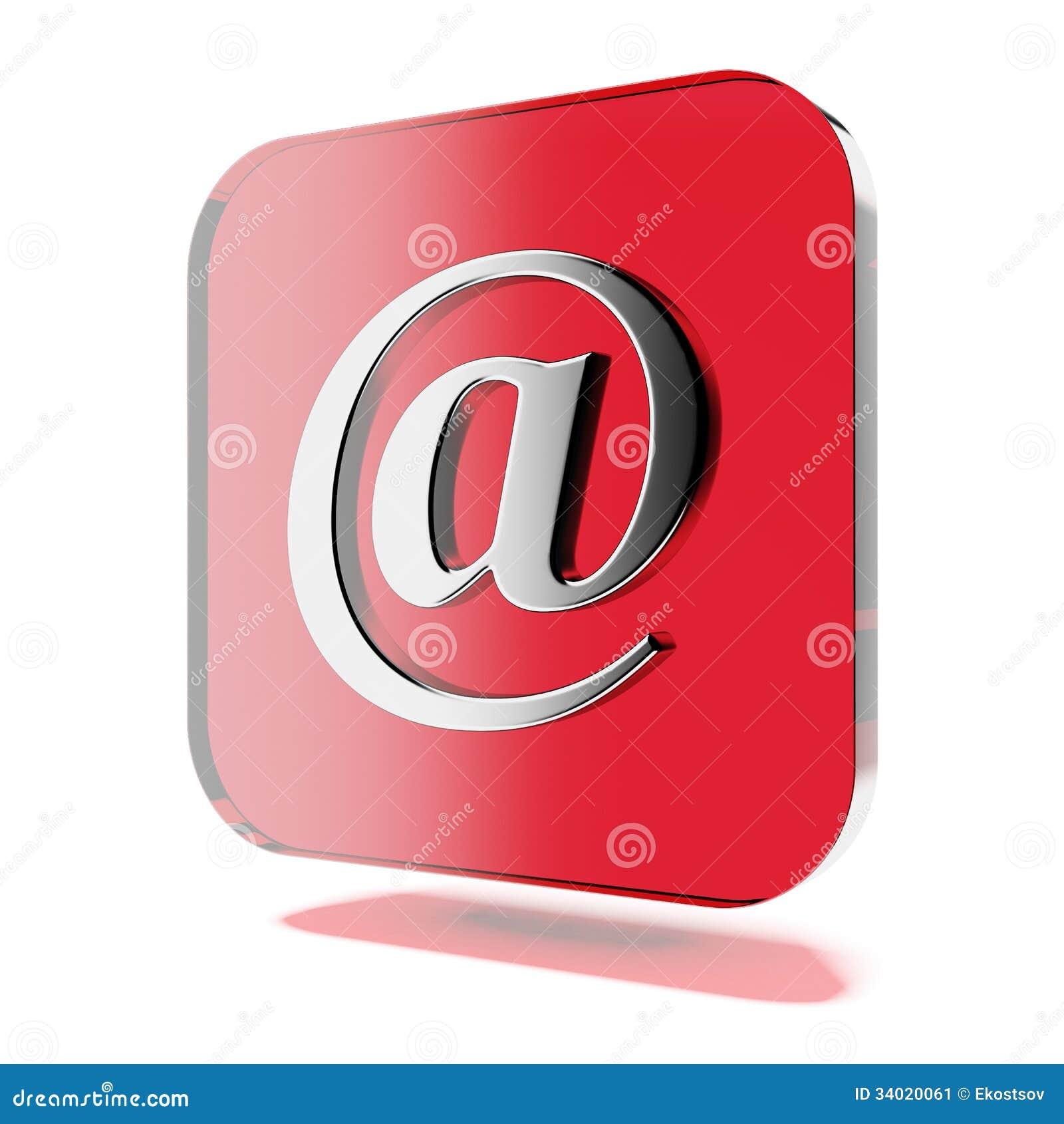 Красный значок почты