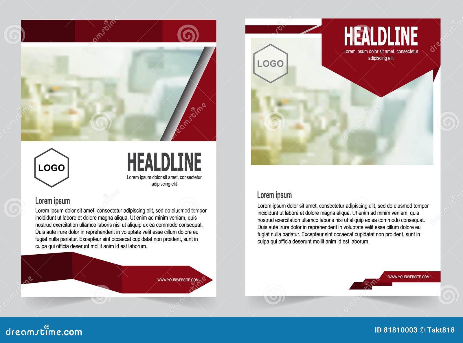 Красный дизайн рогульки шаблона брошюры, иллюстрация вектора