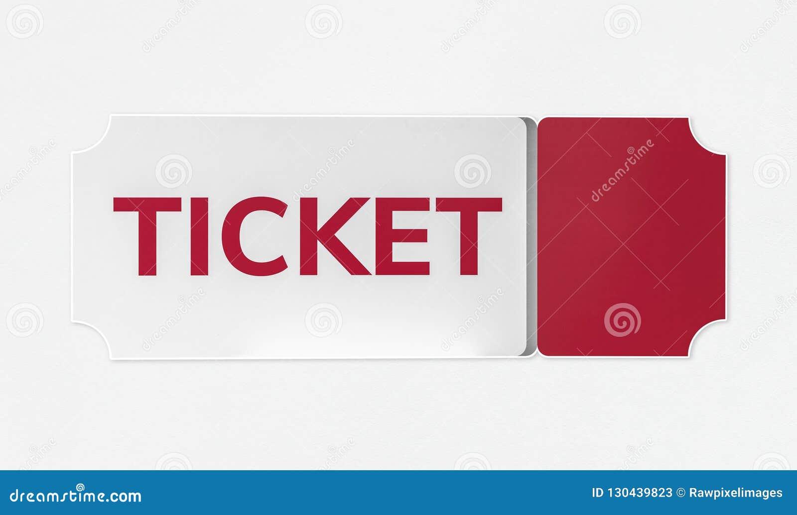 Красный и белый значок входного билета