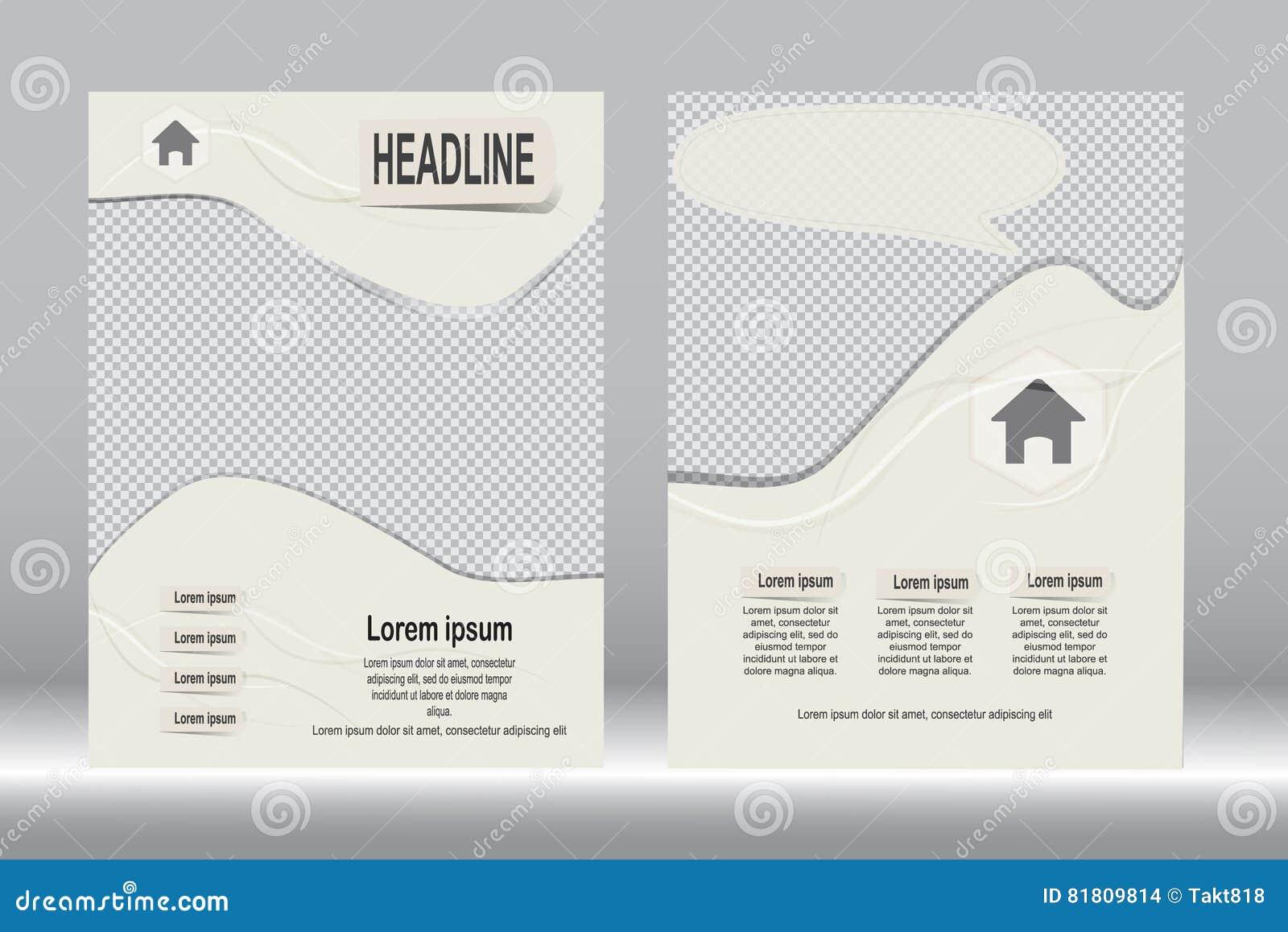 Красный и черный дизайн рогульки шаблона брошюры
