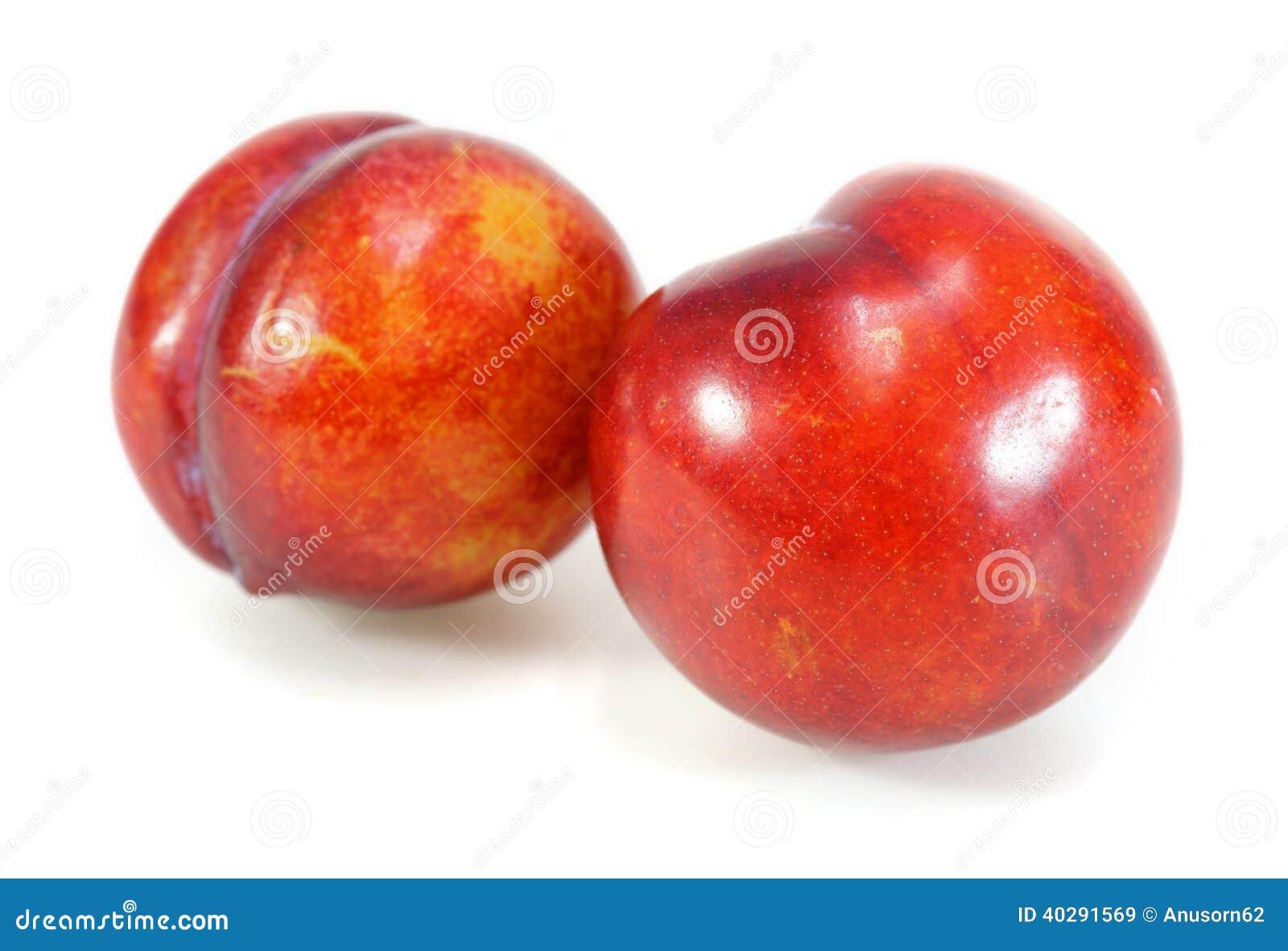 Красный плодоовощ сливы