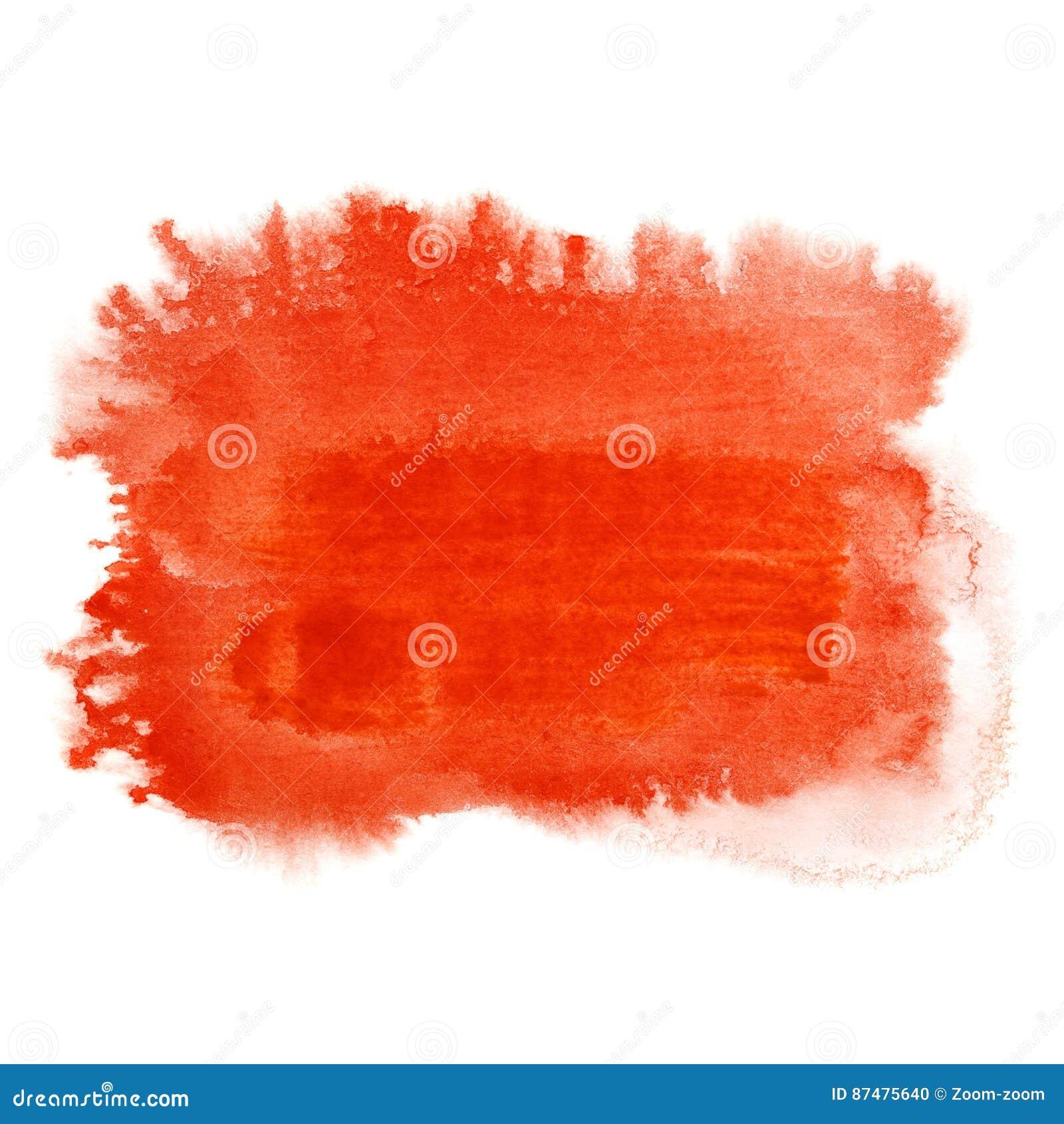 Красный ход щетки акварели