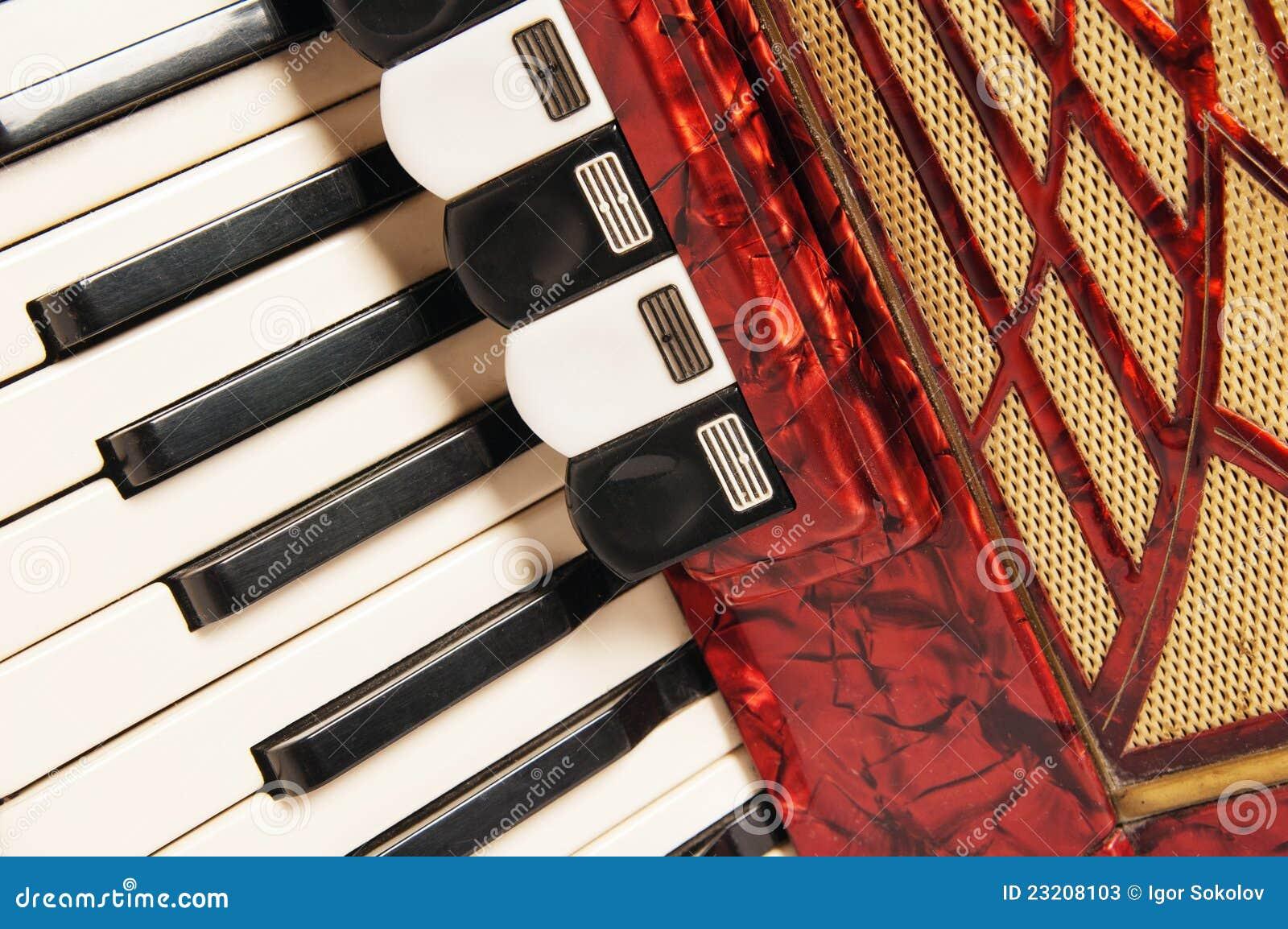 красный цвет аккордеони близкий вверх