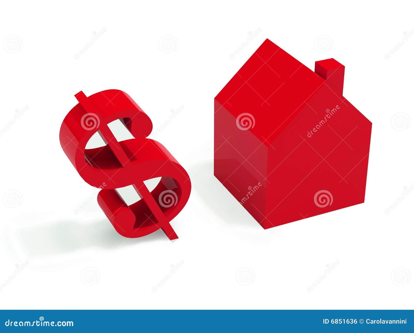 красный цвет дома доллара