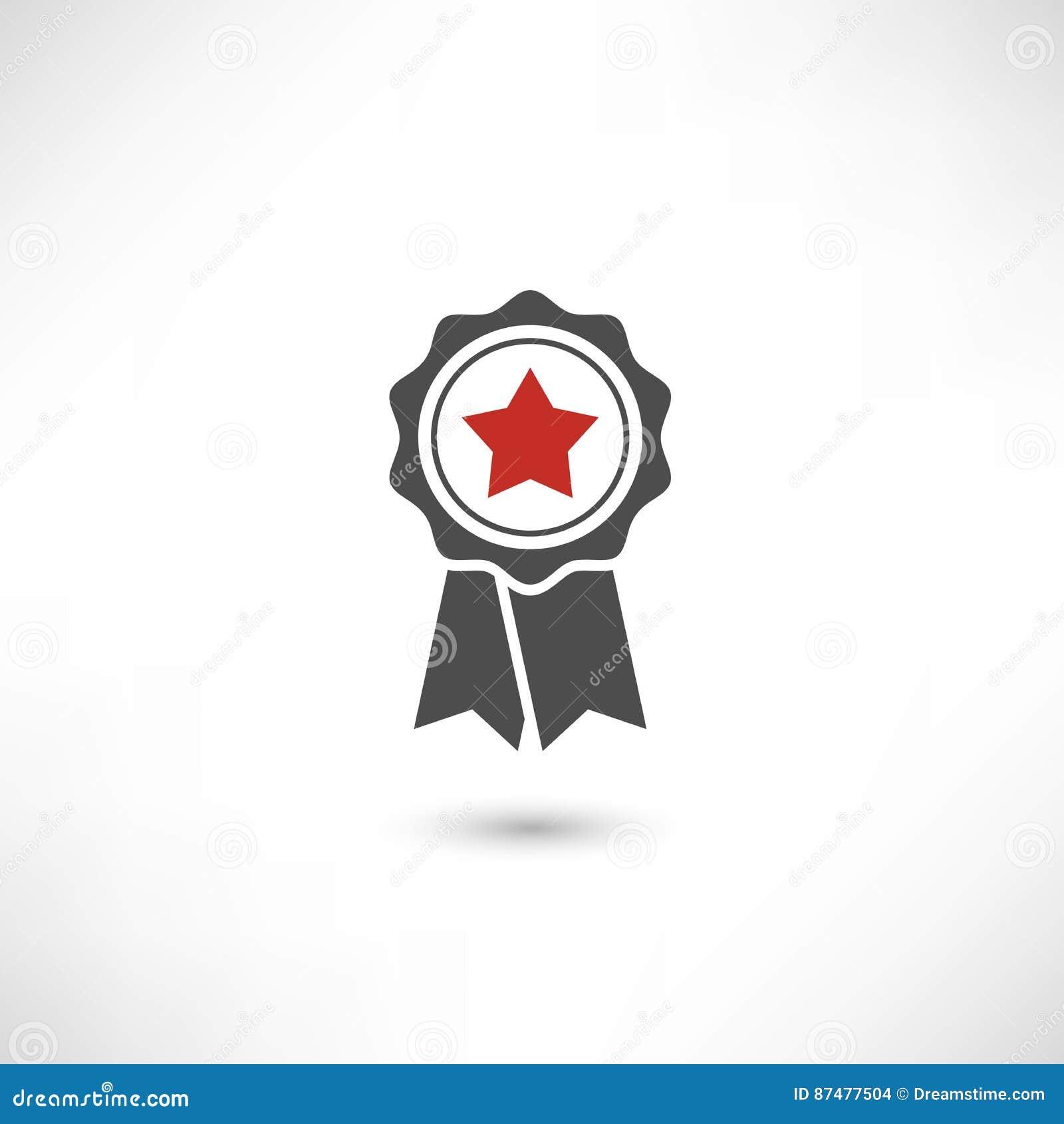 Красный цвет звезды значка