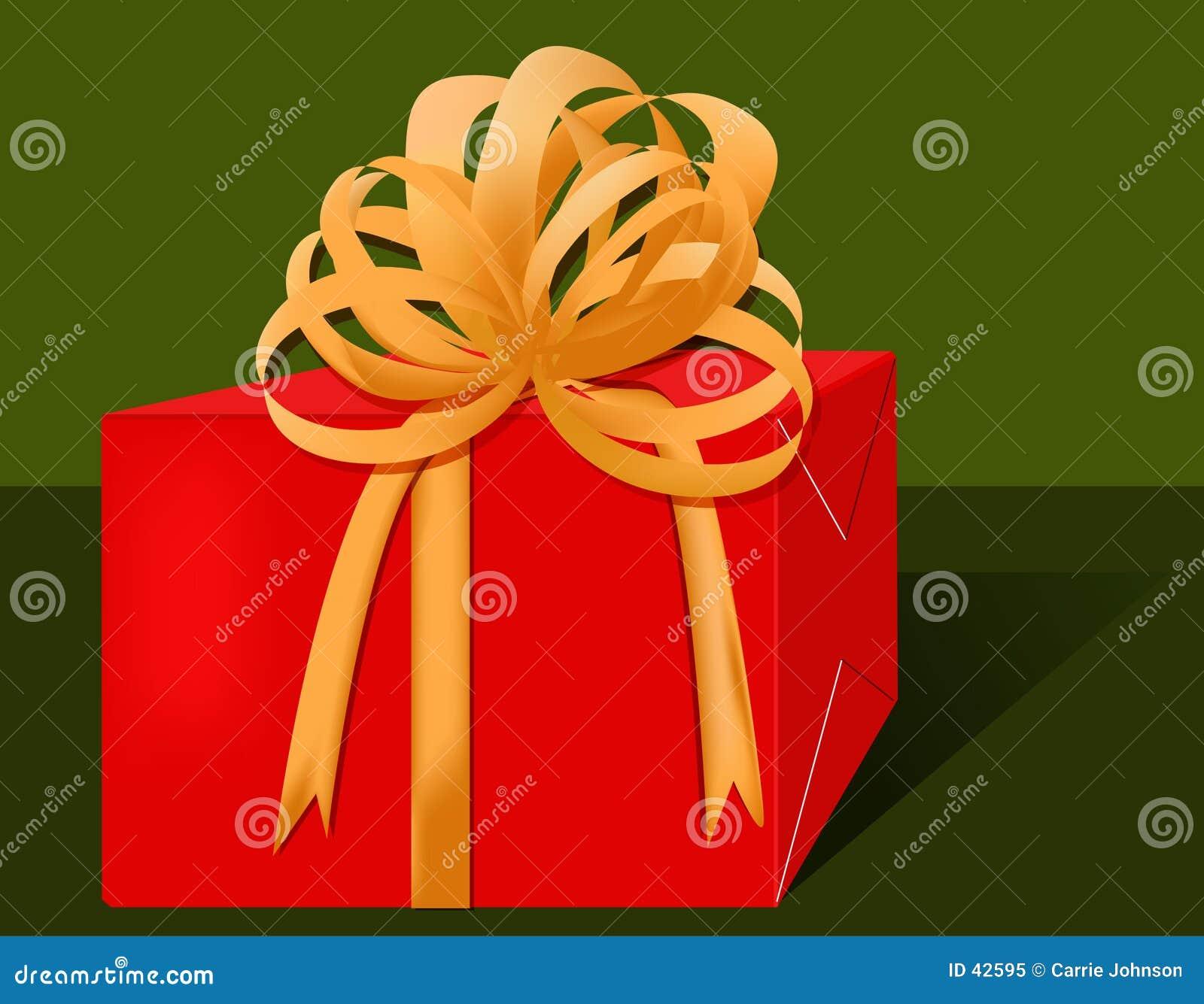 красный цвет подарка