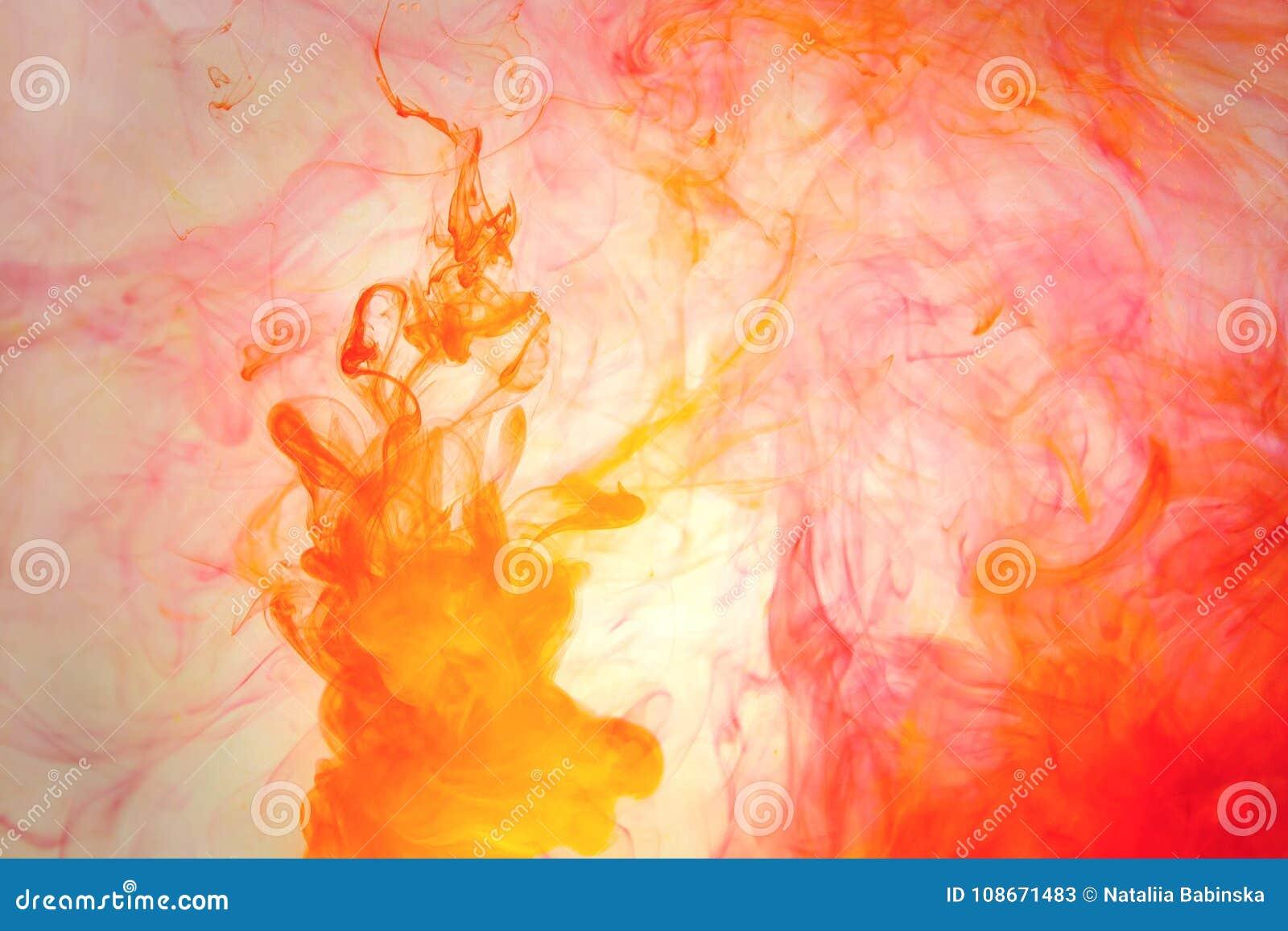 Красный цвет покрасил курорт моря неба абстракции черноты космоса голубого зеленого цвета желтого цвета предпосылки краски воды а