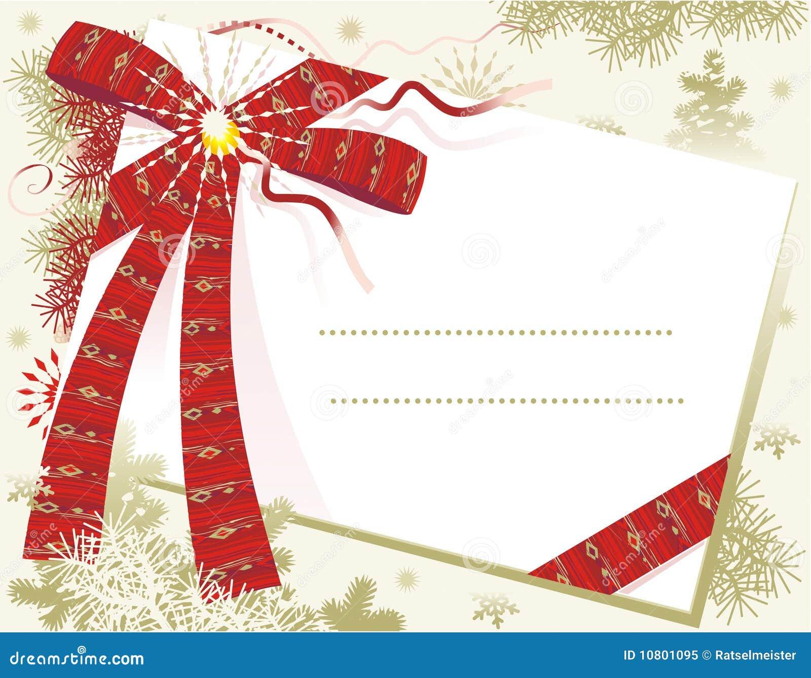 красный цвет рождества карточки смычка