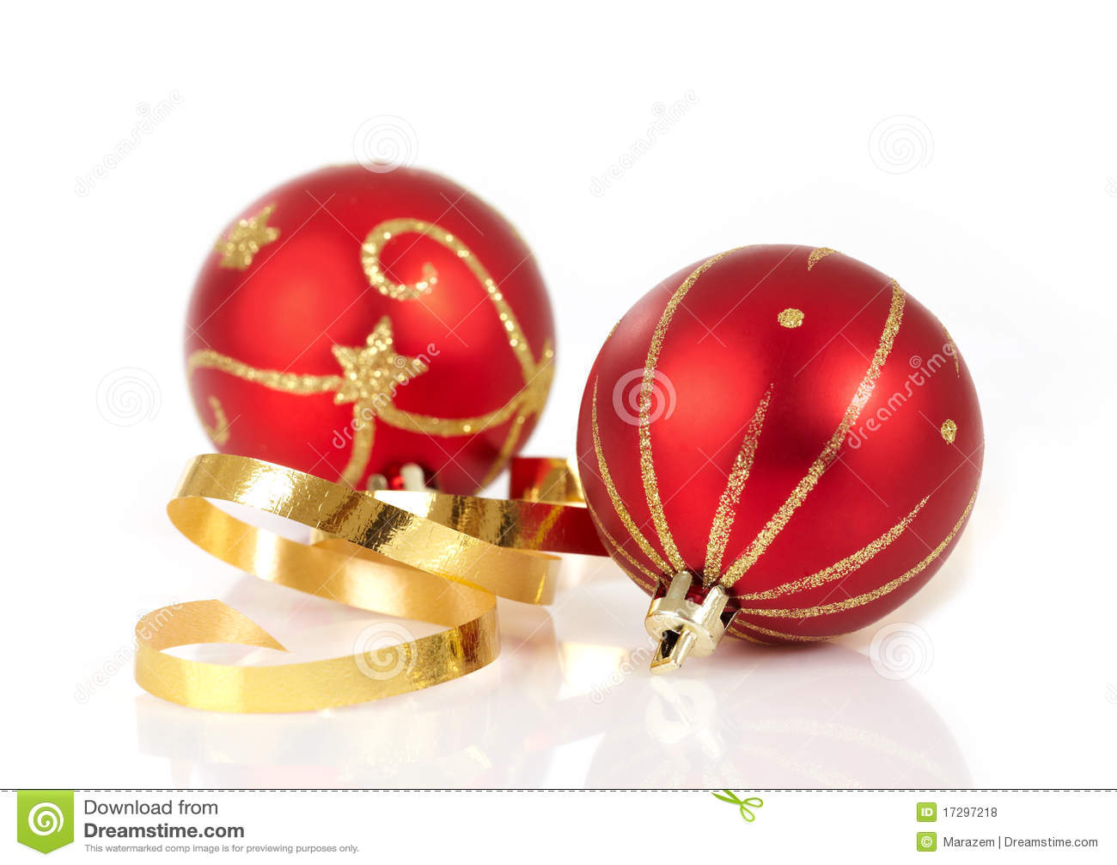 красный цвет рождества baubles