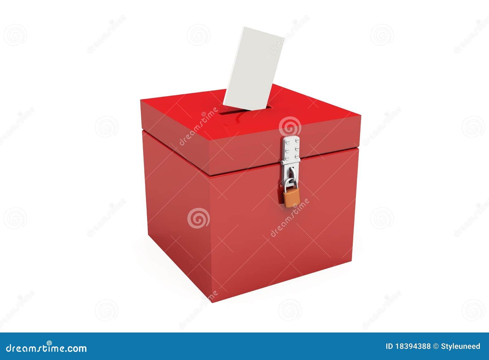 красный цвет урны для избирательных бюллетеней 02 3d