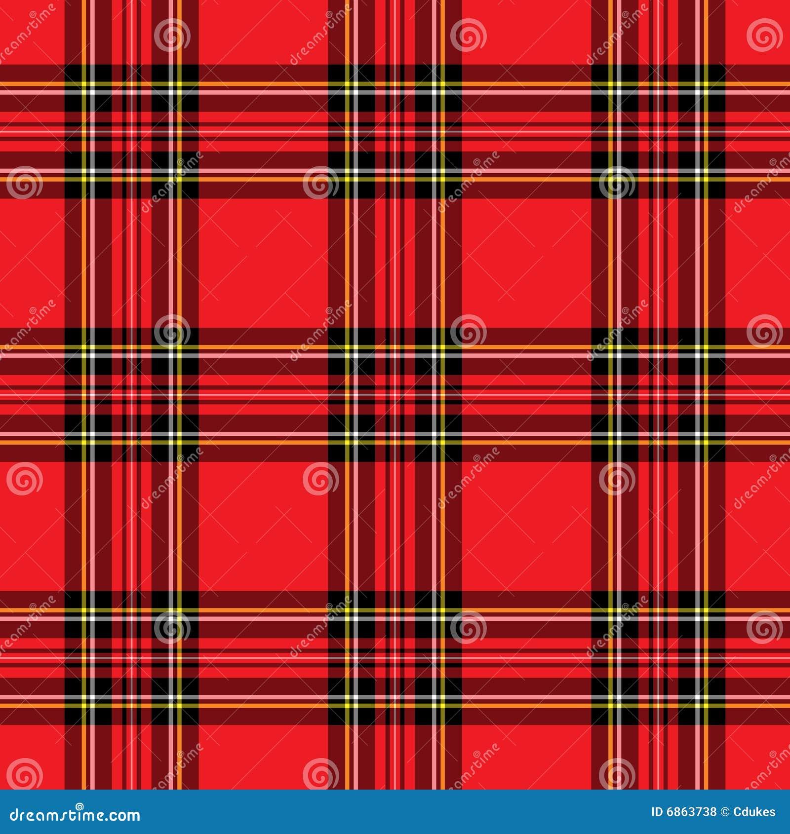 красный цвет шотландки картины