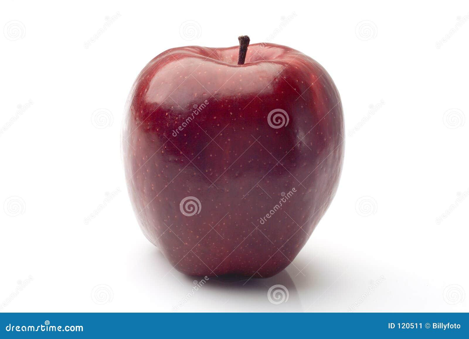 красный цвет яблока просто