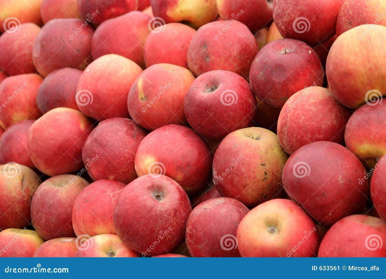 Download красный цвет яблок естественный Стоковое Изображение - изображение насчитывающей витамин, серии: 633561