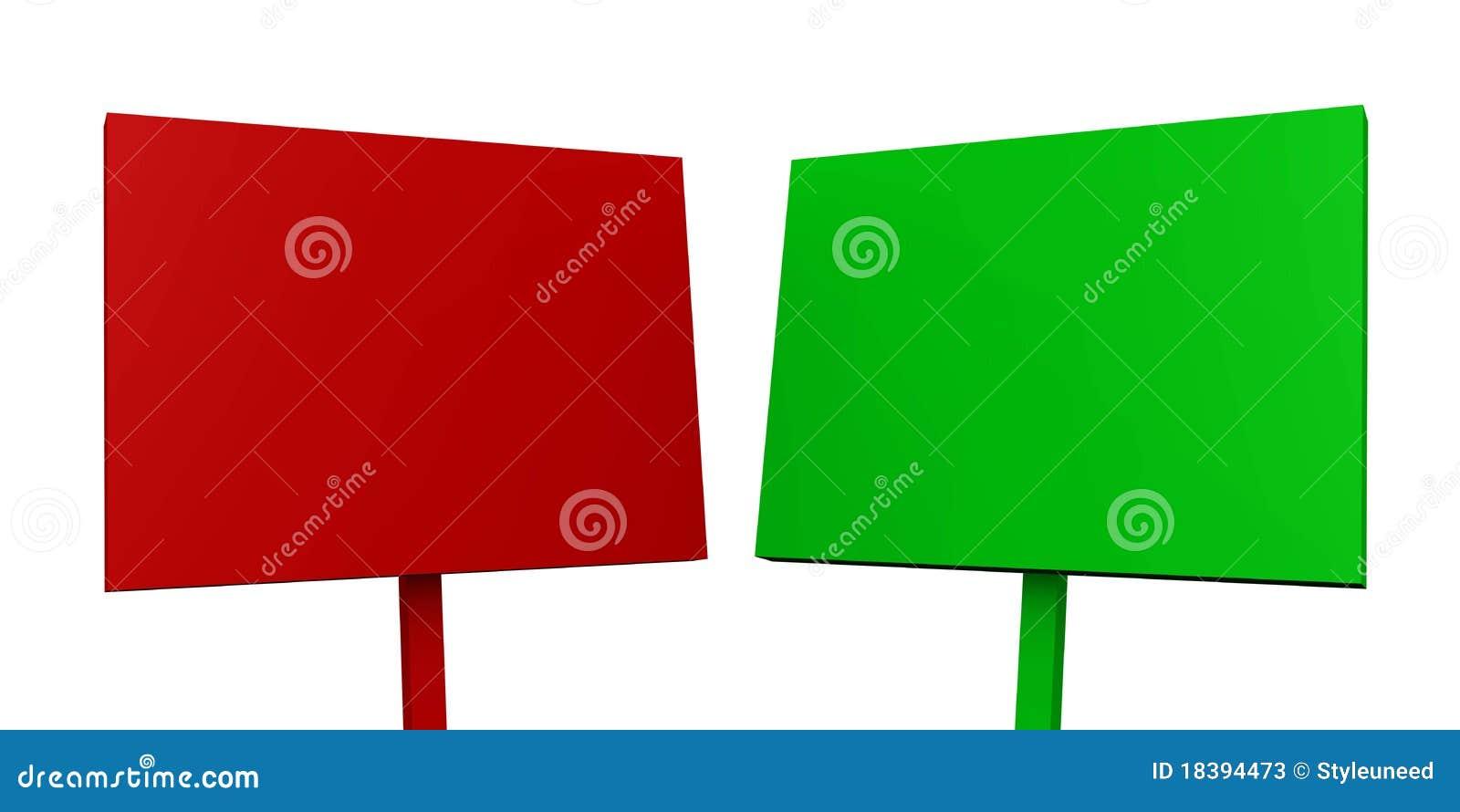 красный цвет 01 рекламируя доски зеленый