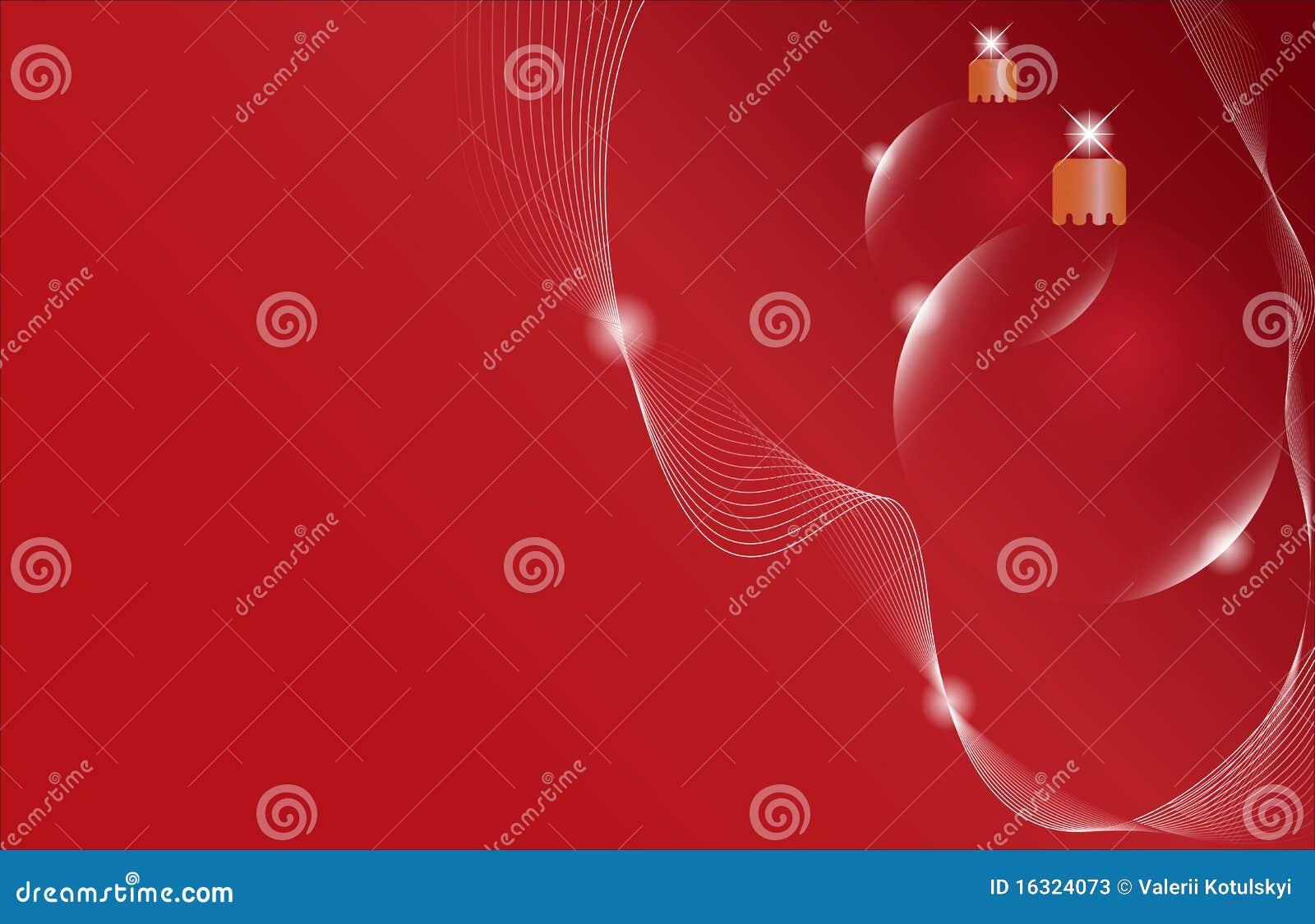 красный цвет 2 рождества шарика предпосылки