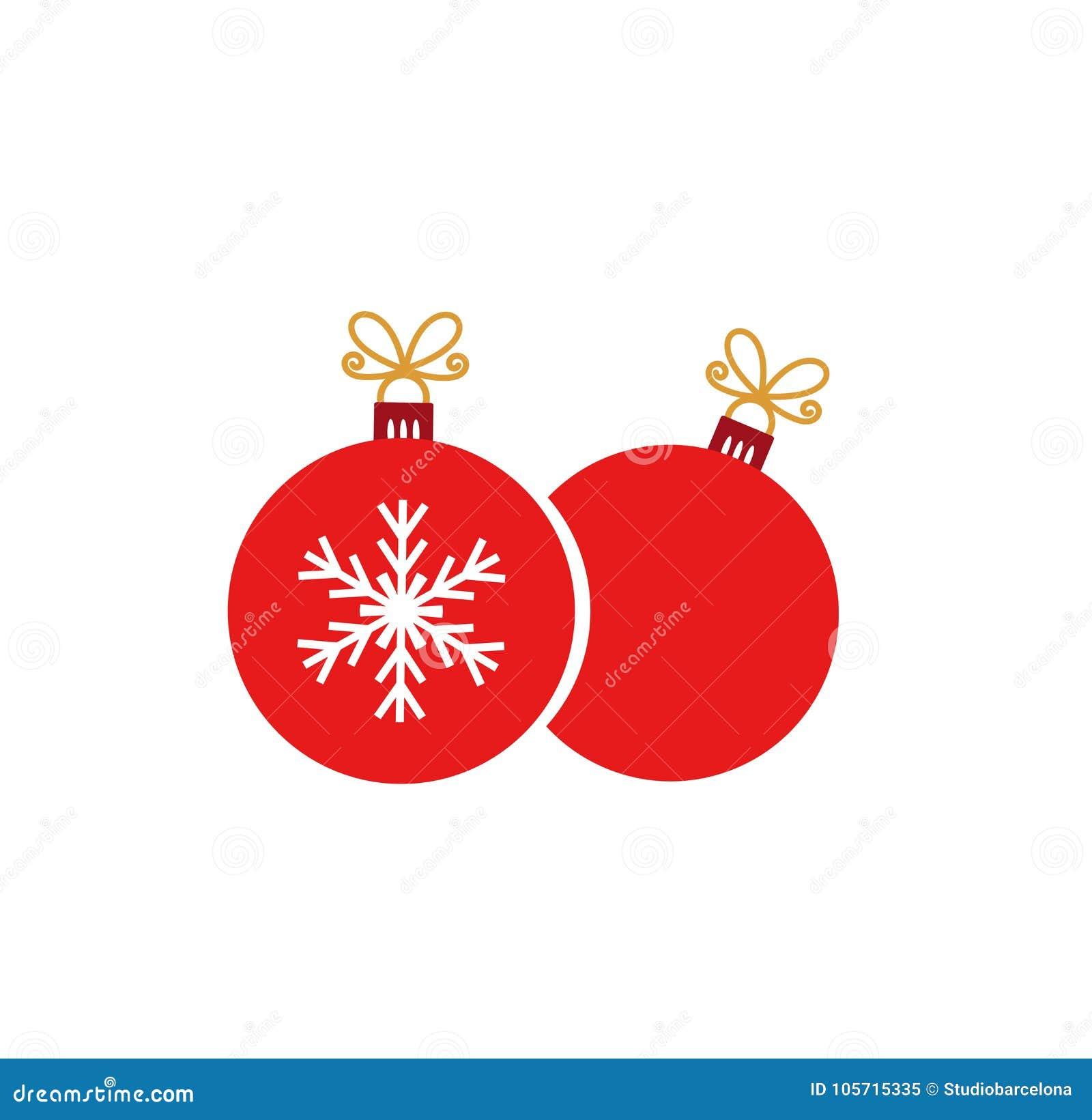 2 красных орнамента шариков рождества на белой предпосылке