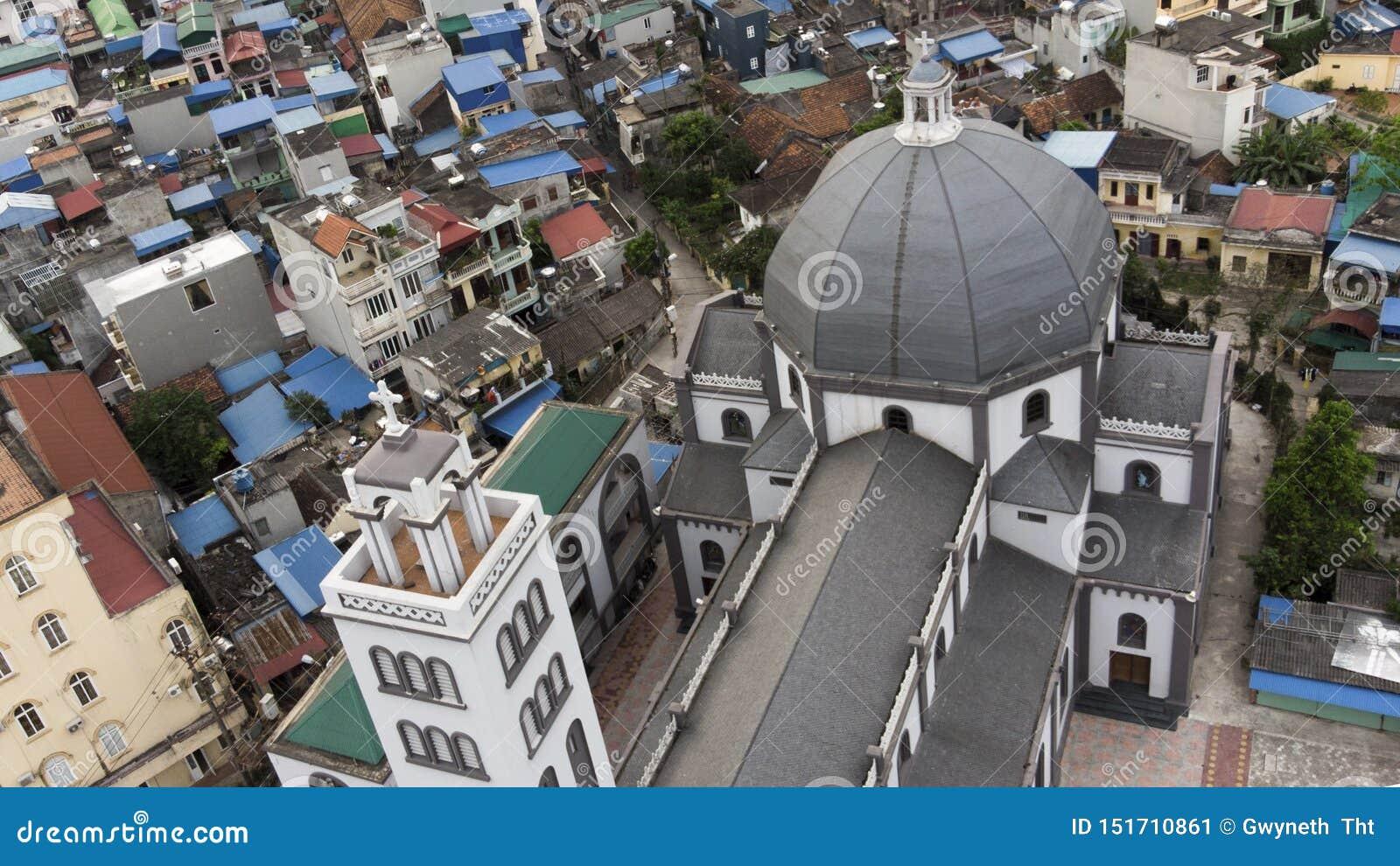 Красота сверху старой церков