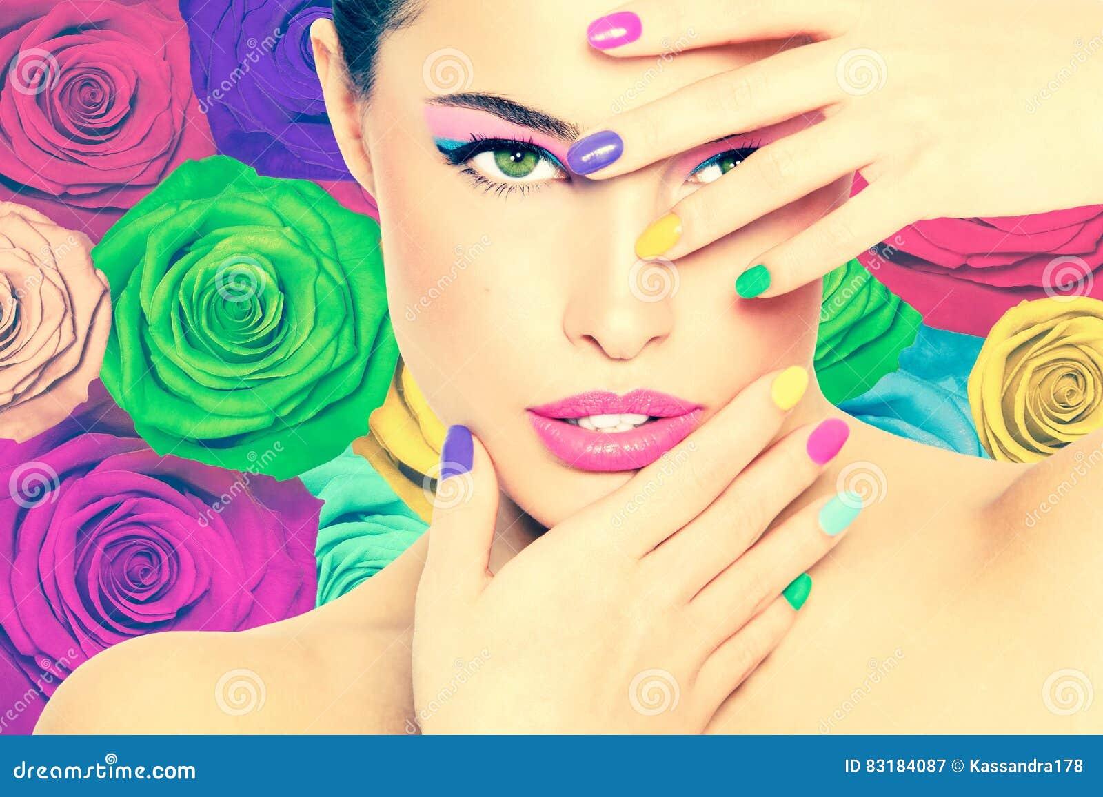 Красотка в цветах