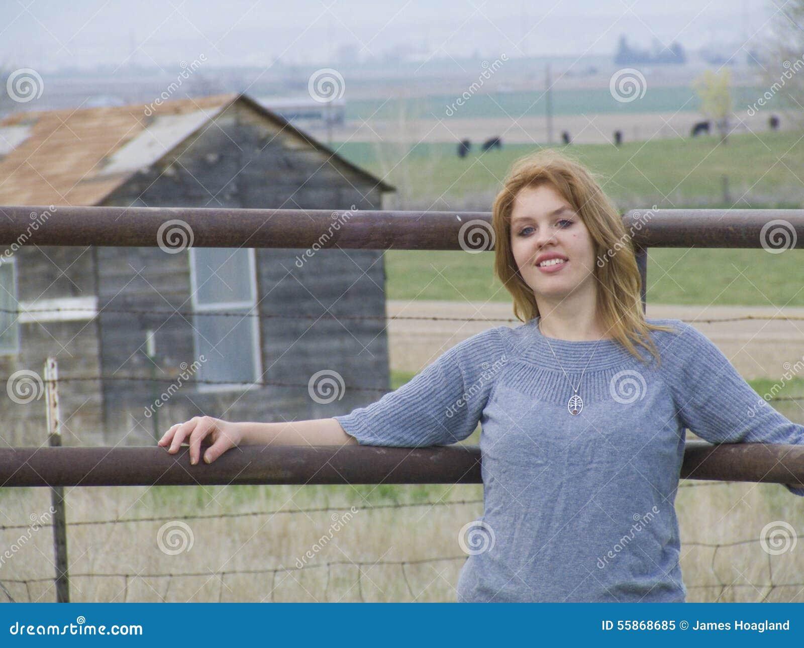 красотка на ферме
