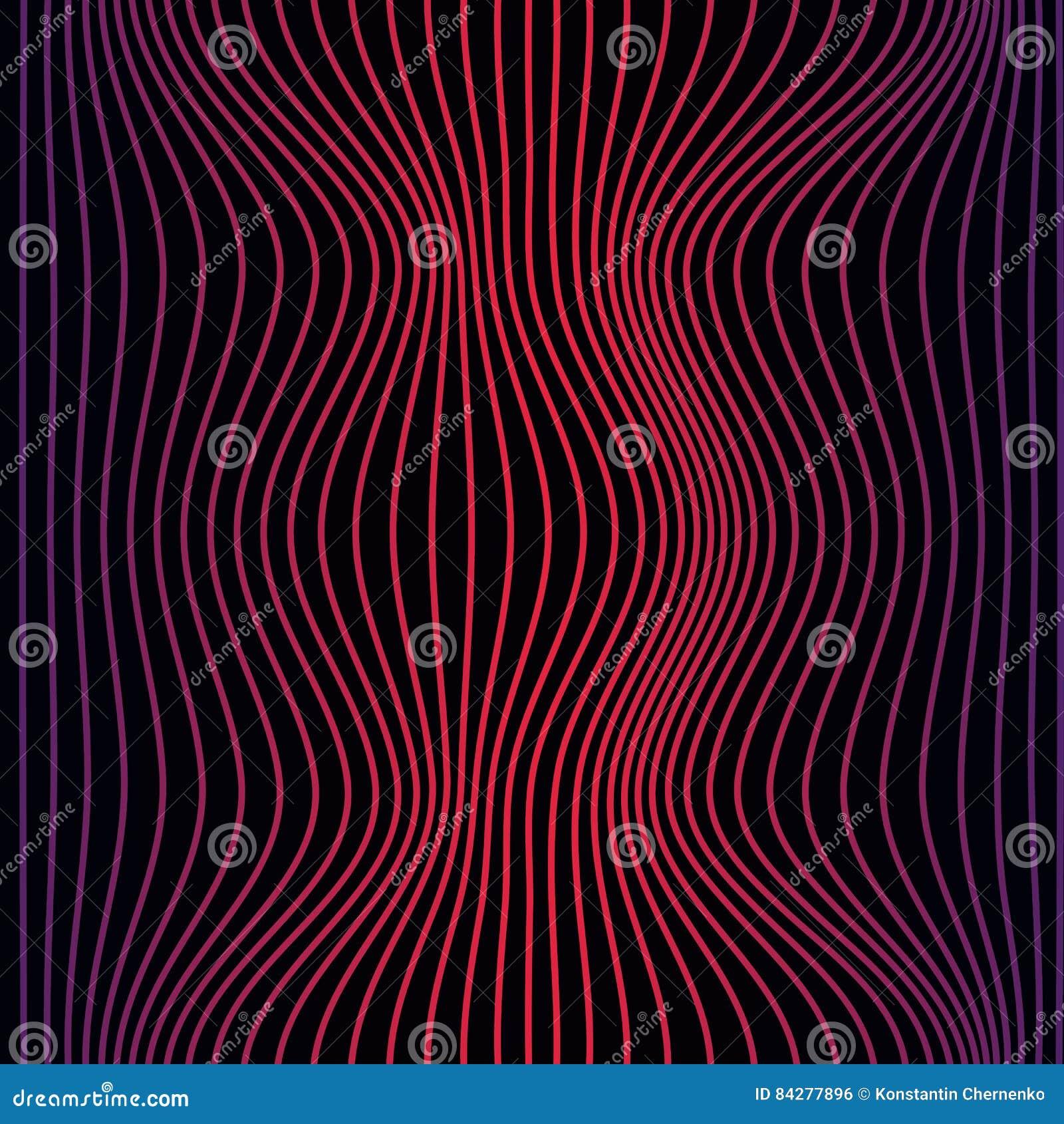 Красочная абстрактная линия картина волны безшовная Текстура с волнистыми, billowy линиями для ваших дизайнов