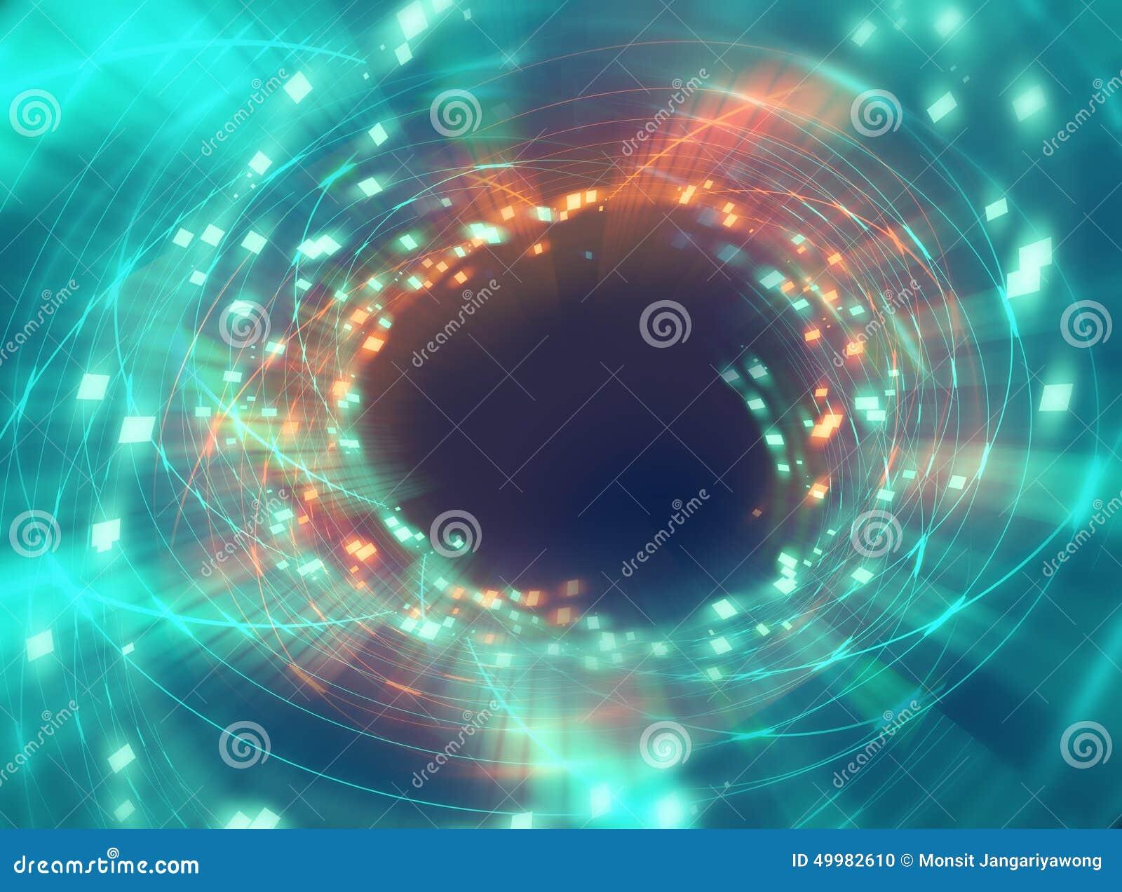 Красочная геометрическая круговая задняя часть абстрактной технологии tunnelshape