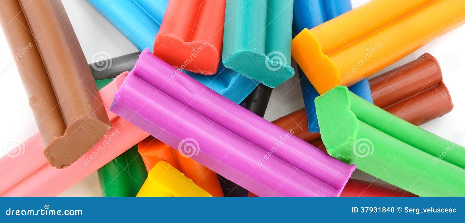 Красочная предпосылка пластилина
