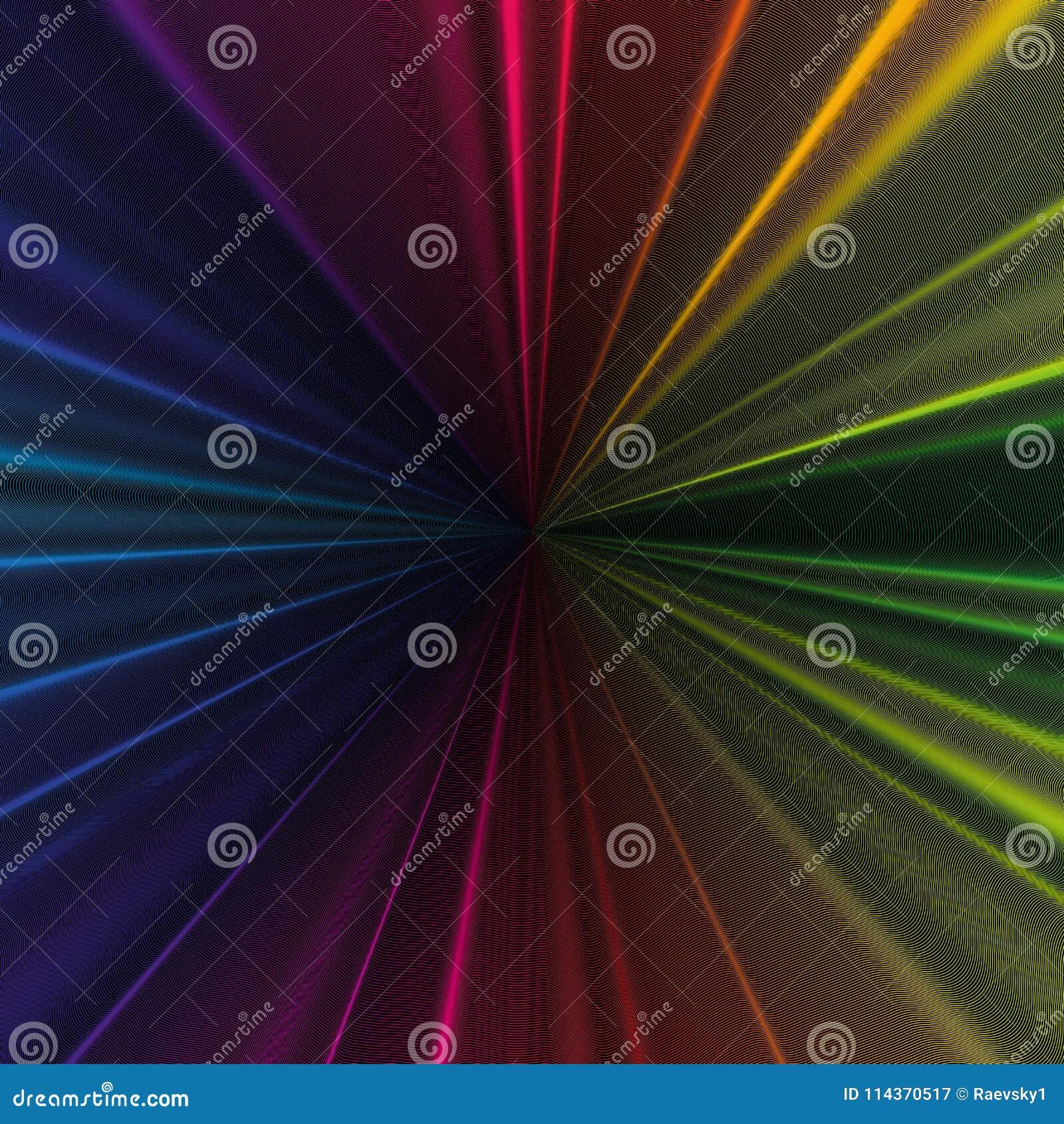 Красочная предпосылка 3d с абстрактными волнами, линиями Яркие кривые цвета, свирль Дизайн движения Красочный вектор