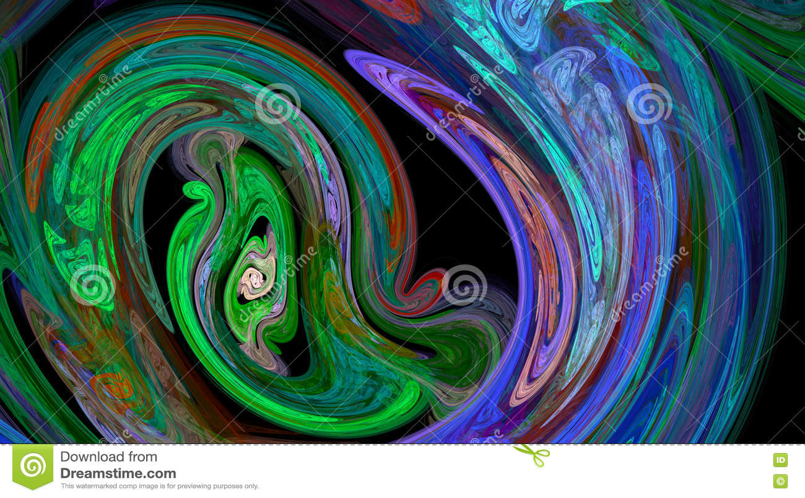 Красочная предпосылка конспекта twirl