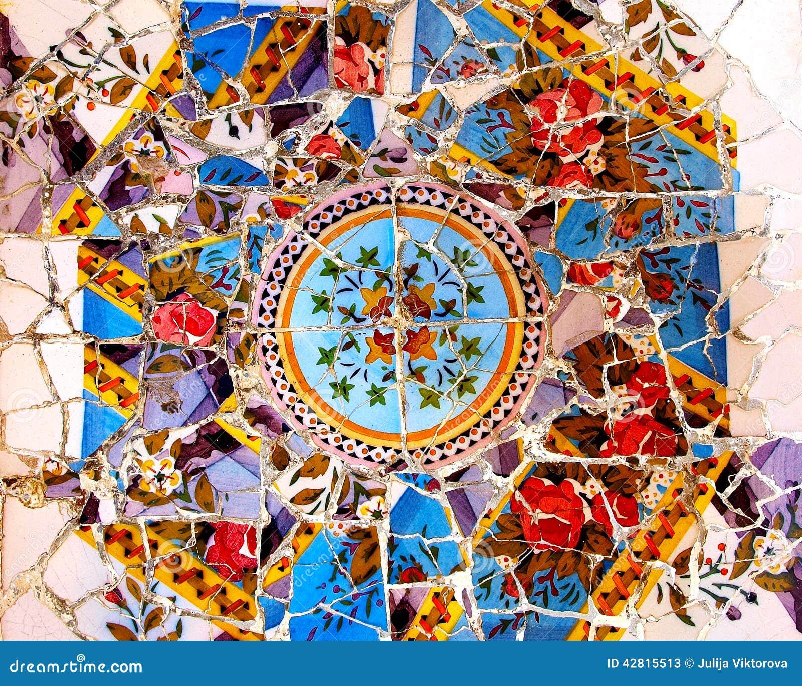 гауди мозаика фото