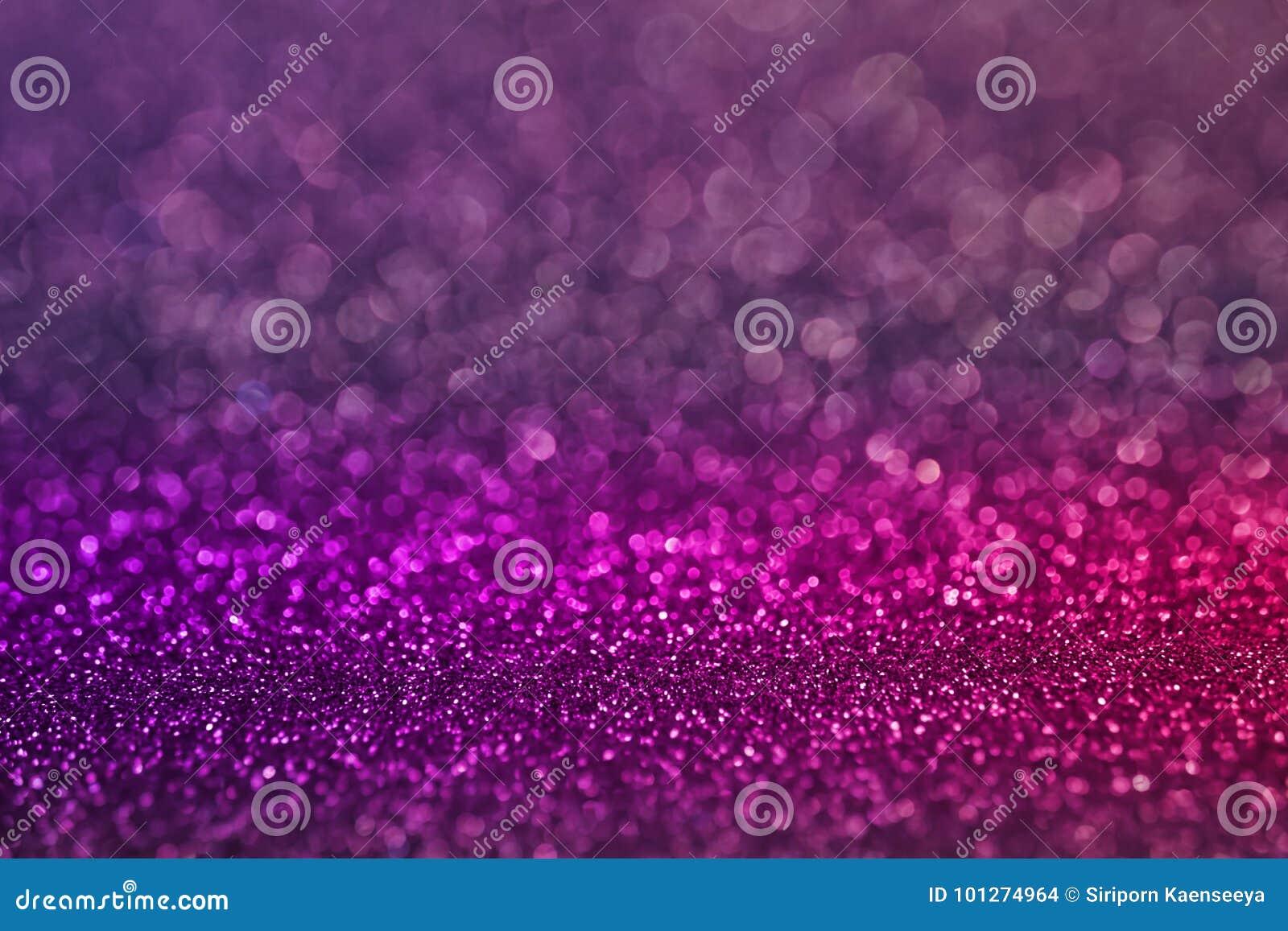 Красочная фиолетовая розовая предпосылка яркого блеска света bokeh для день ` s рождества и Нового Года