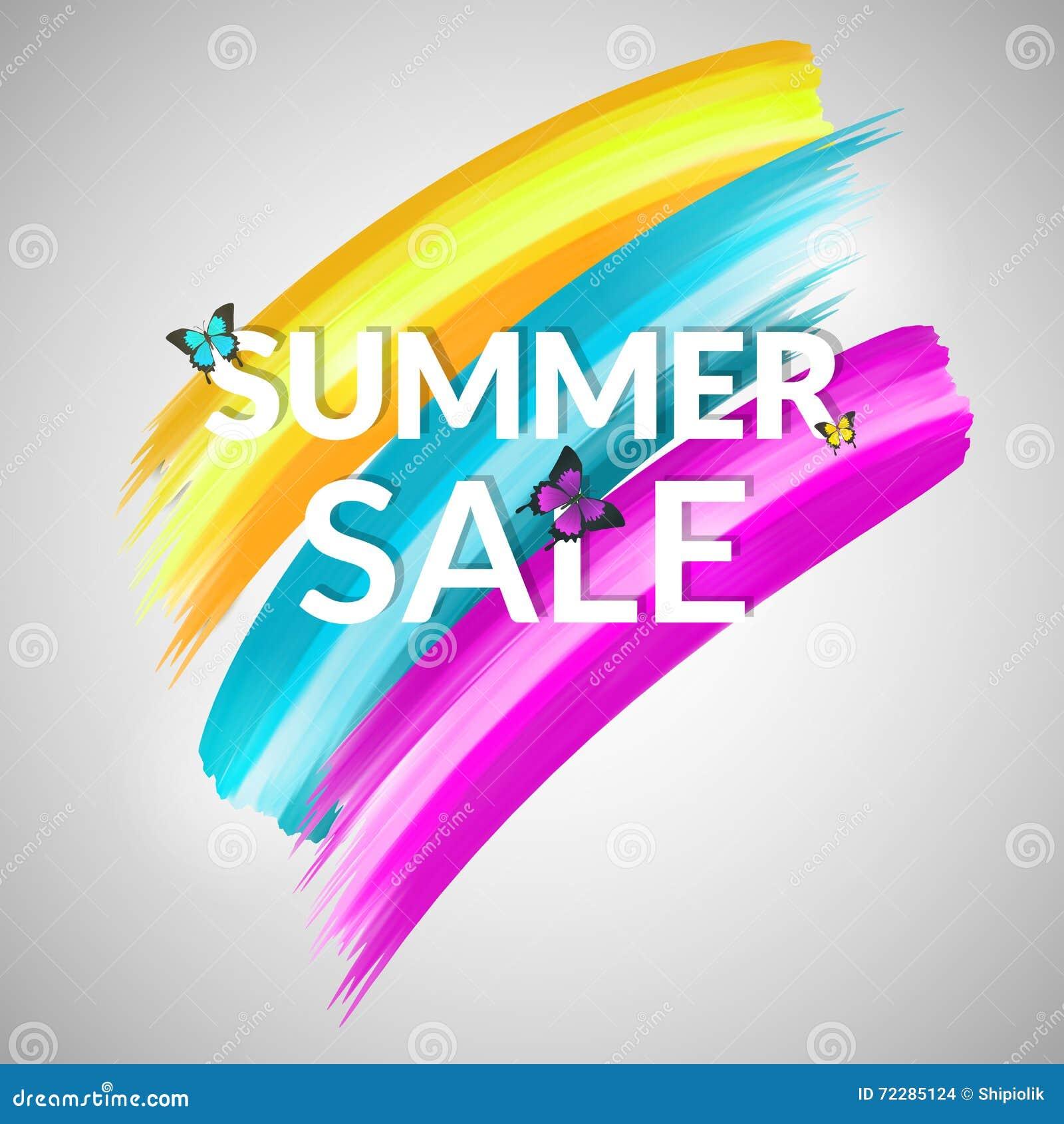 Download Красочное знамя продажи лета Иллюстрация вектора - иллюстрации насчитывающей рабат, икона: 72285124